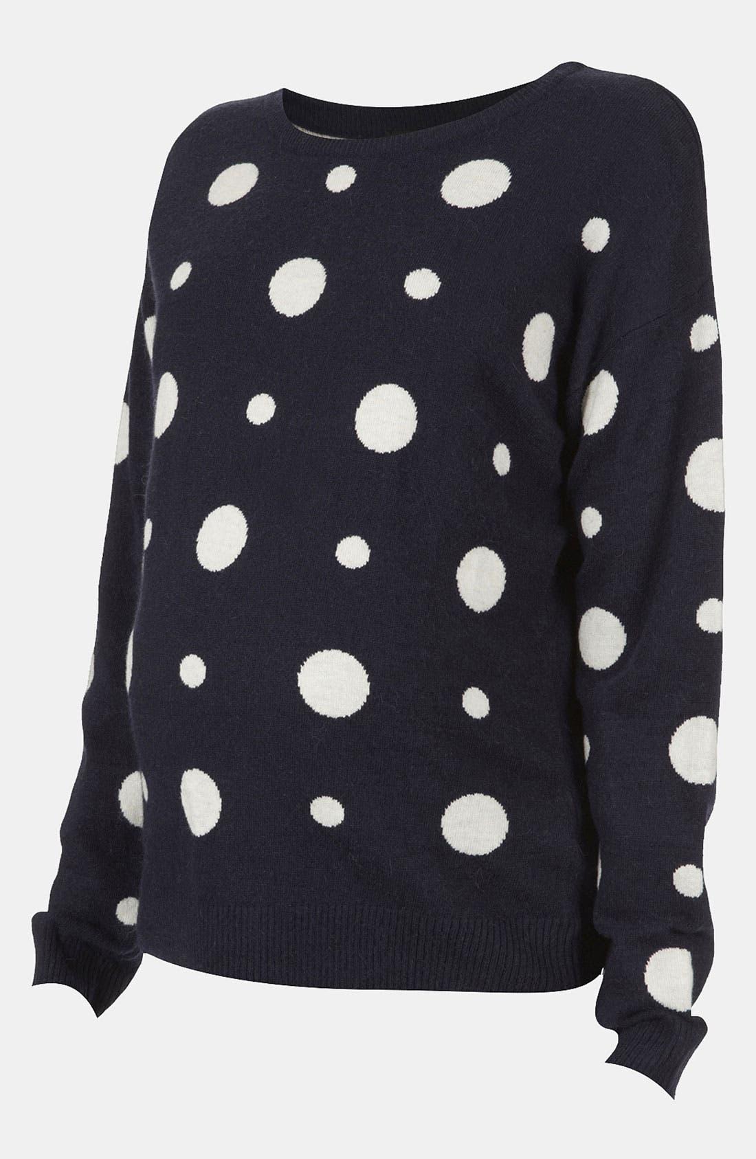 Alternate Image 1 Selected - Topshop Dot Maternity Sweater