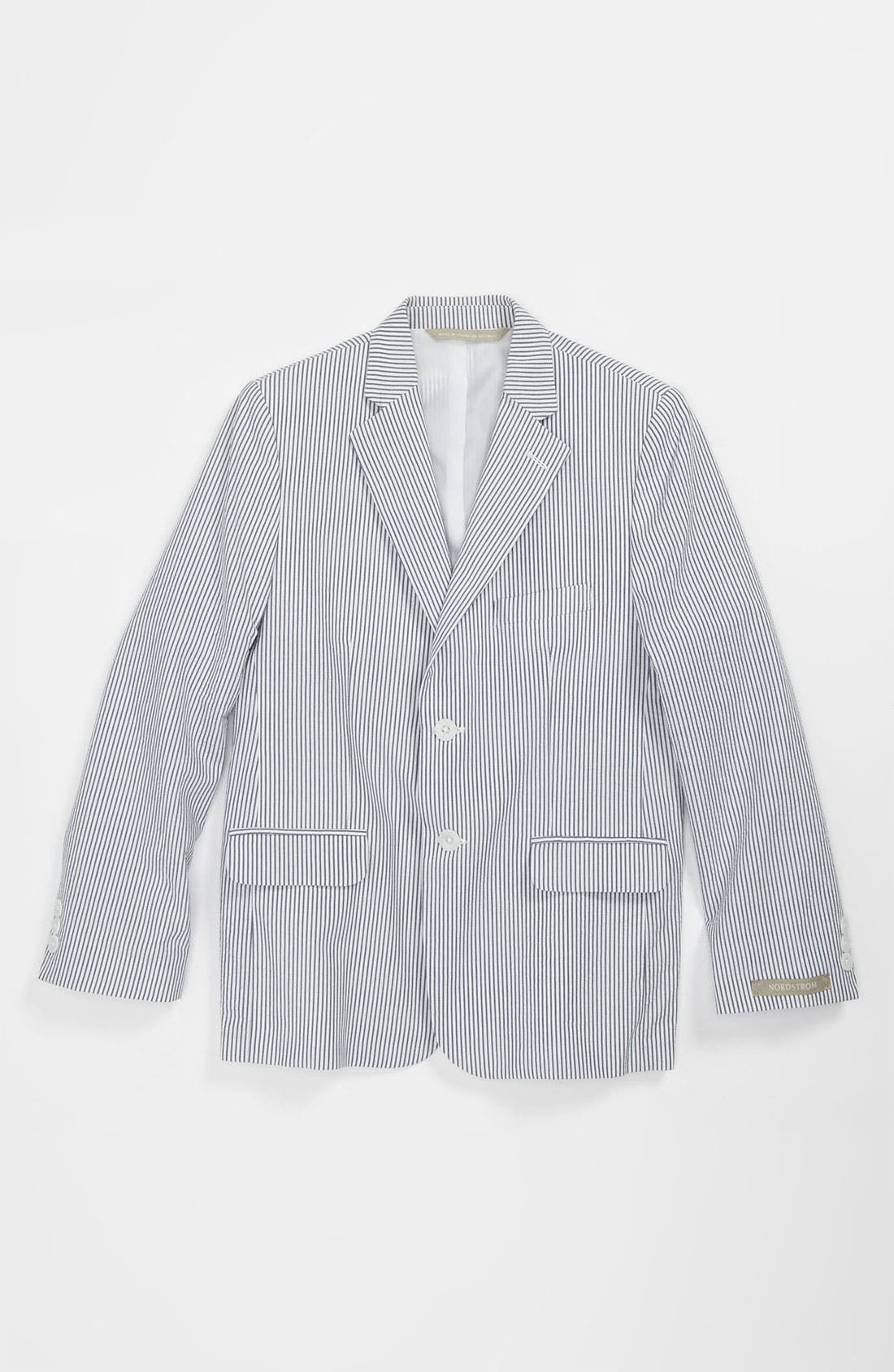 Main Image - Nordstrom 'Christopher' Seersucker Jacket (Little Boys & Big Boys)