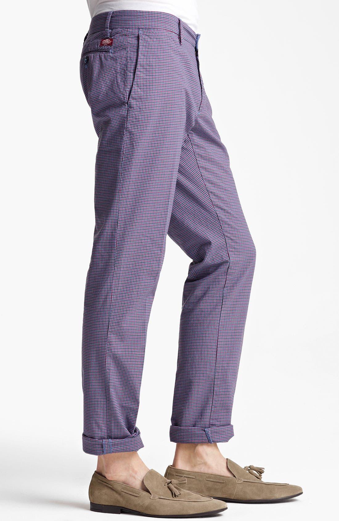 Alternate Image 3  - Mason's Check Straight Leg Pants