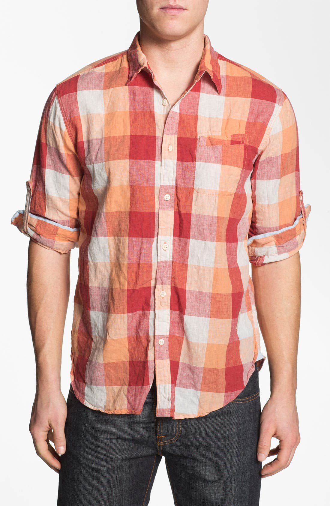 Alternate Image 1 Selected - Scotch & Soda Regular Fit Linen Sport Shirt
