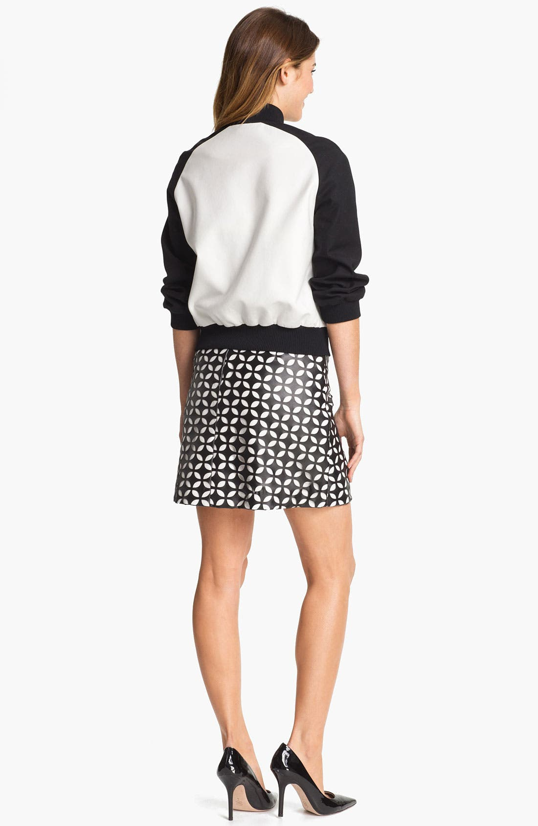 Alternate Image 5  - Vince Camuto Mod Cutout Faux Leather Skirt