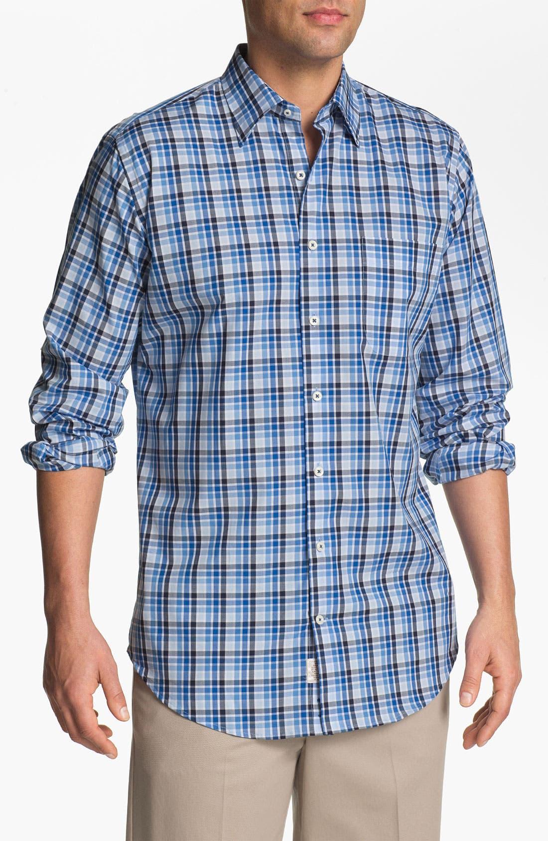 Alternate Image 1 Selected - Peter Millar 'Zurich' Regular Fit Plaid Sport Shirt