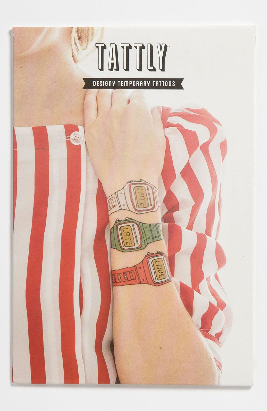 Main Image - Tattly 'Watch' Temporary Tattoo Set (Girls)