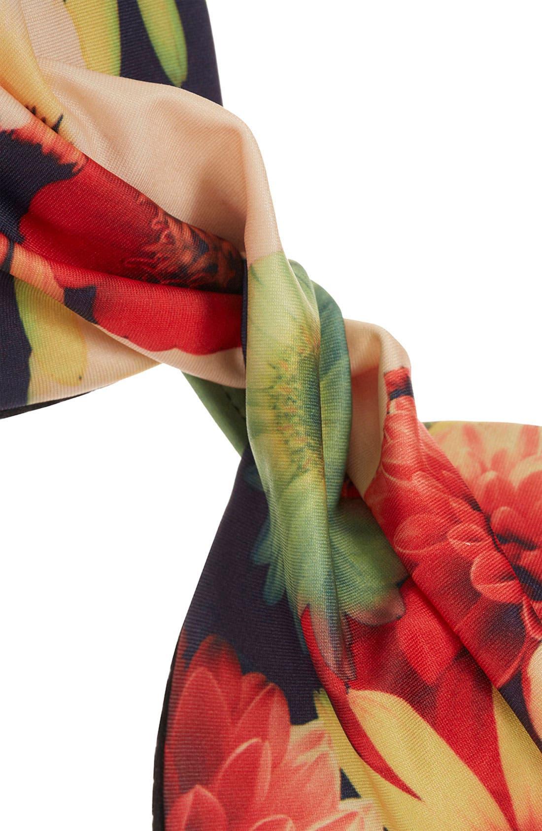 Alternate Image 3  - Topshop 'Bouquet' Digital Print Bikini Top