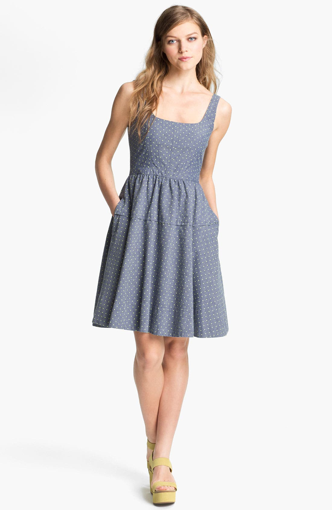 Alternate Image 1 Selected - MARC BY MARC JACOBS 'Dotty' Cotton Fit & Flare Dress