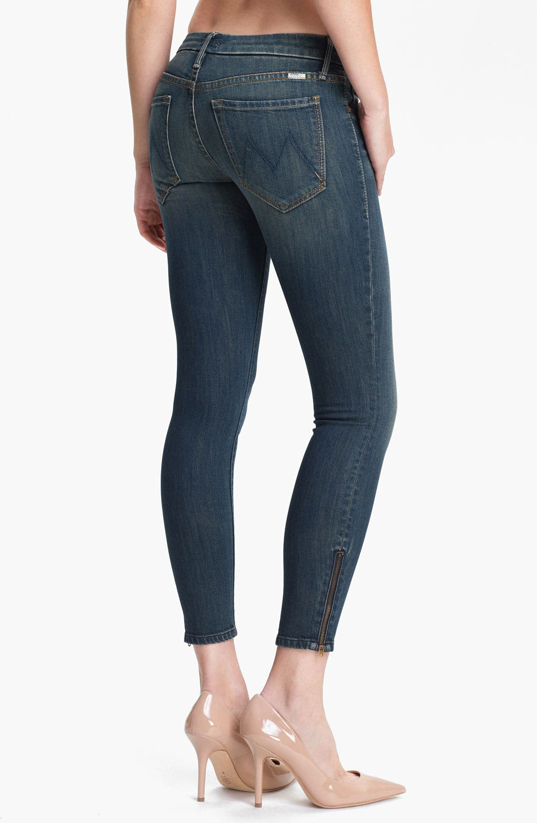 Alternate Image 2  - MOTHER 'The Looker' Ankle Zip Skinny Jeans (Snake Eyes)