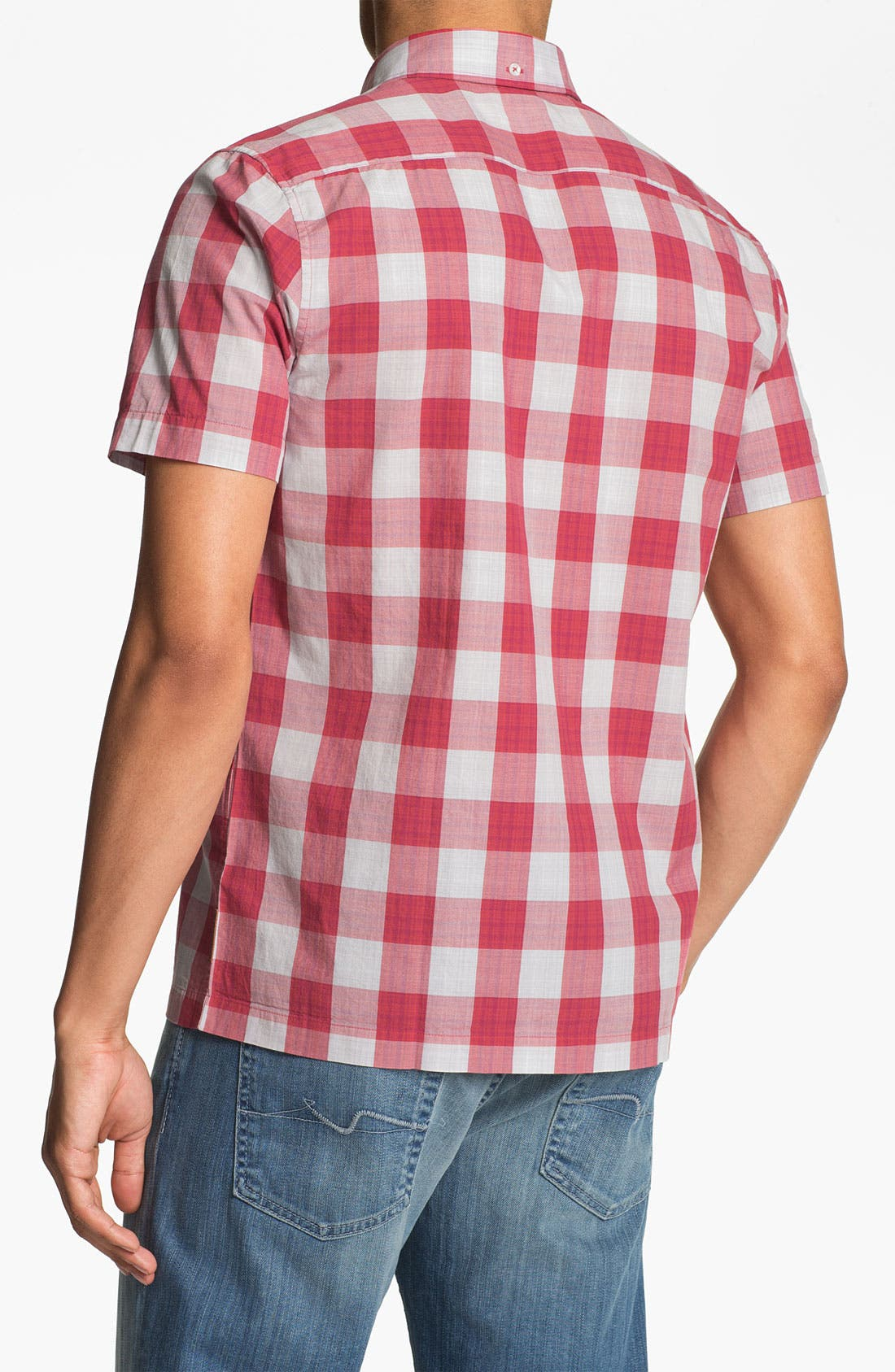 Alternate Image 2  - Ben Sherman Gingham Check Short Sleeve Woven Shirt