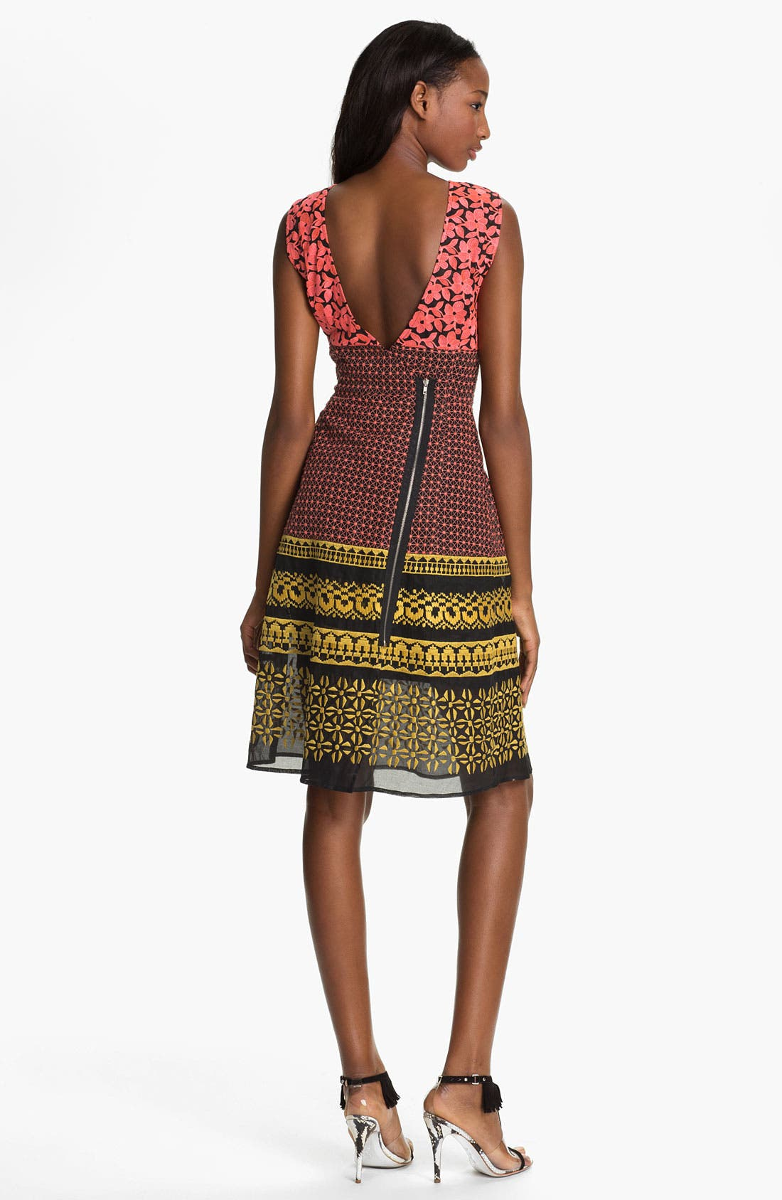 Alternate Image 2  - Tracy Reese Embroidered Mash-Up Frock
