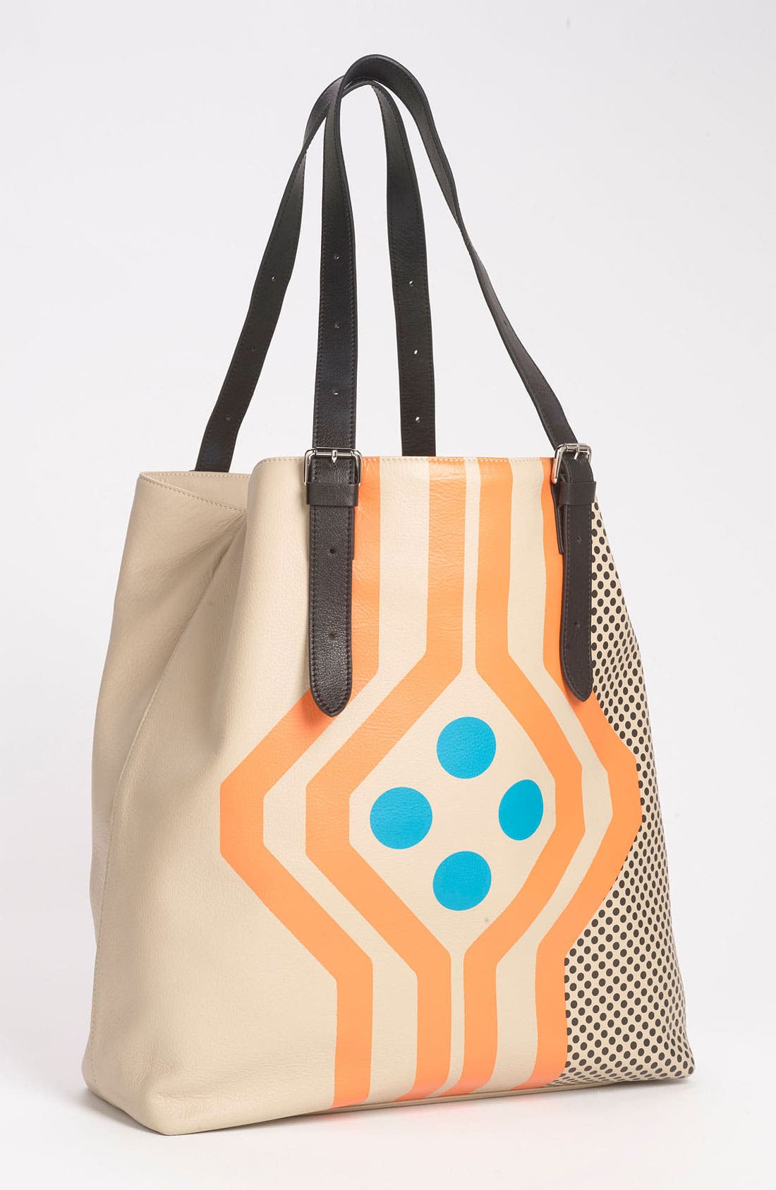 Alternate Image 1 Selected - Yarnz 'Dot Chevron' Leather Tote