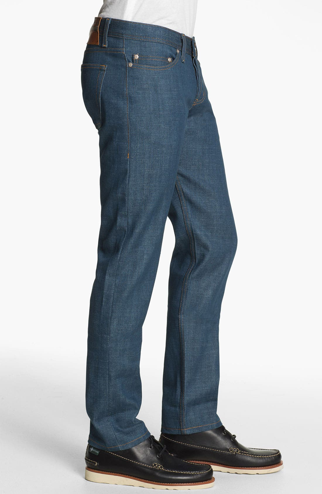 Alternate Image 3  - Naked & Famous Denim 'Weird Guy' Slim Tapered Leg Broken Twill Selvedge Jeans (Royal Blue)