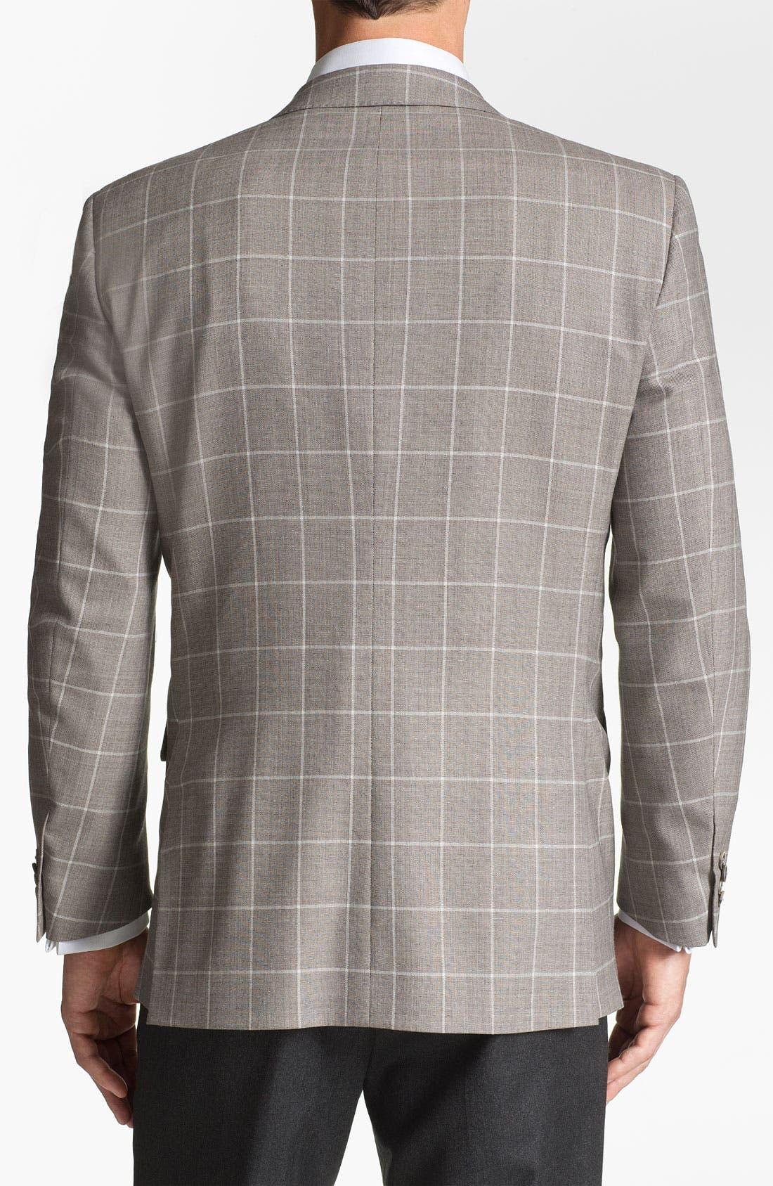 Alternate Image 2  - Peter Millar Windowpane Wool Sportcoat