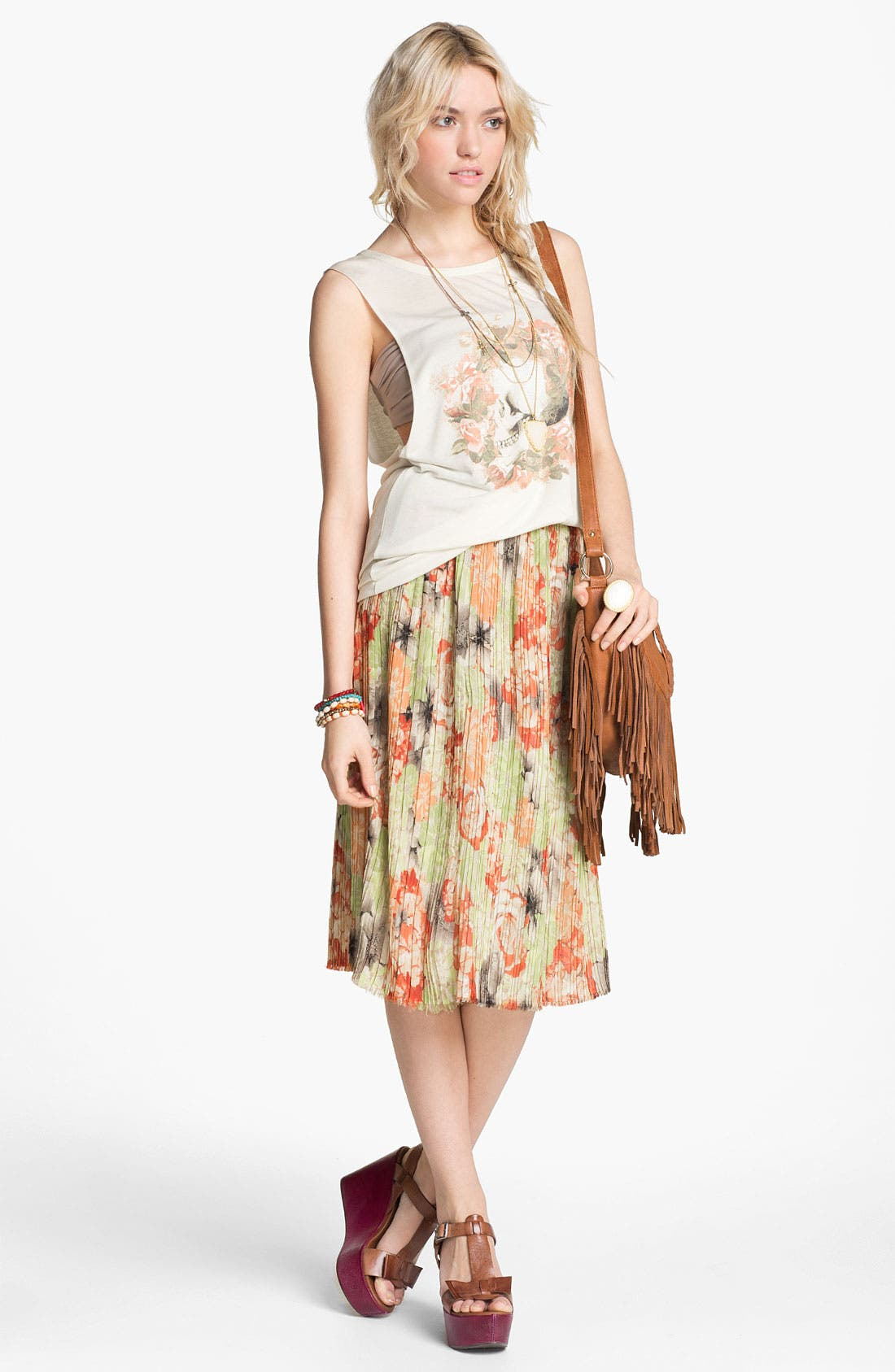 Alternate Image 1 Selected - TWP Muscle Tee & Like Mynded Skirt