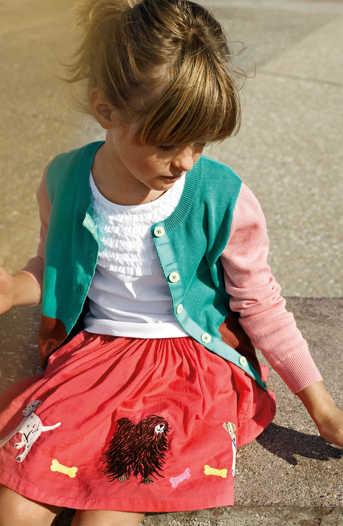 Alternate Image 2  - Mini Boden Embroidered Skirt (Little Girls & Big Girls)