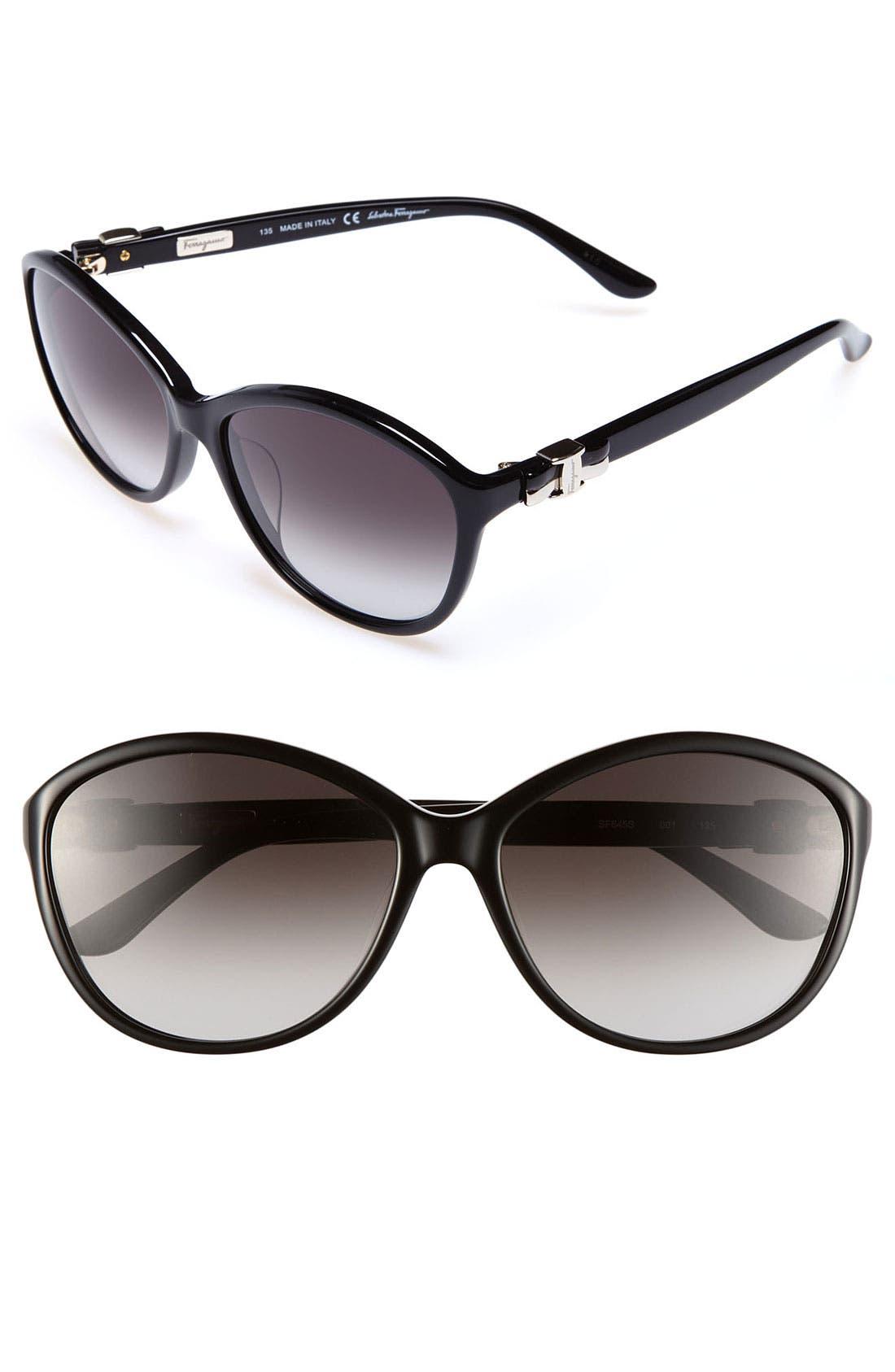 Main Image - Salvatore Ferragamo 58mm Oversized Sunglasses