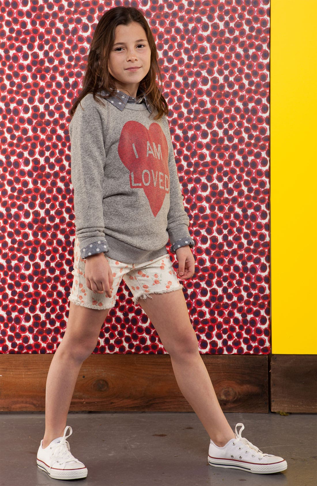 Alternate Image 2  - Peek 'I Am Loved' Sweater (Little Girls & Big Girls)