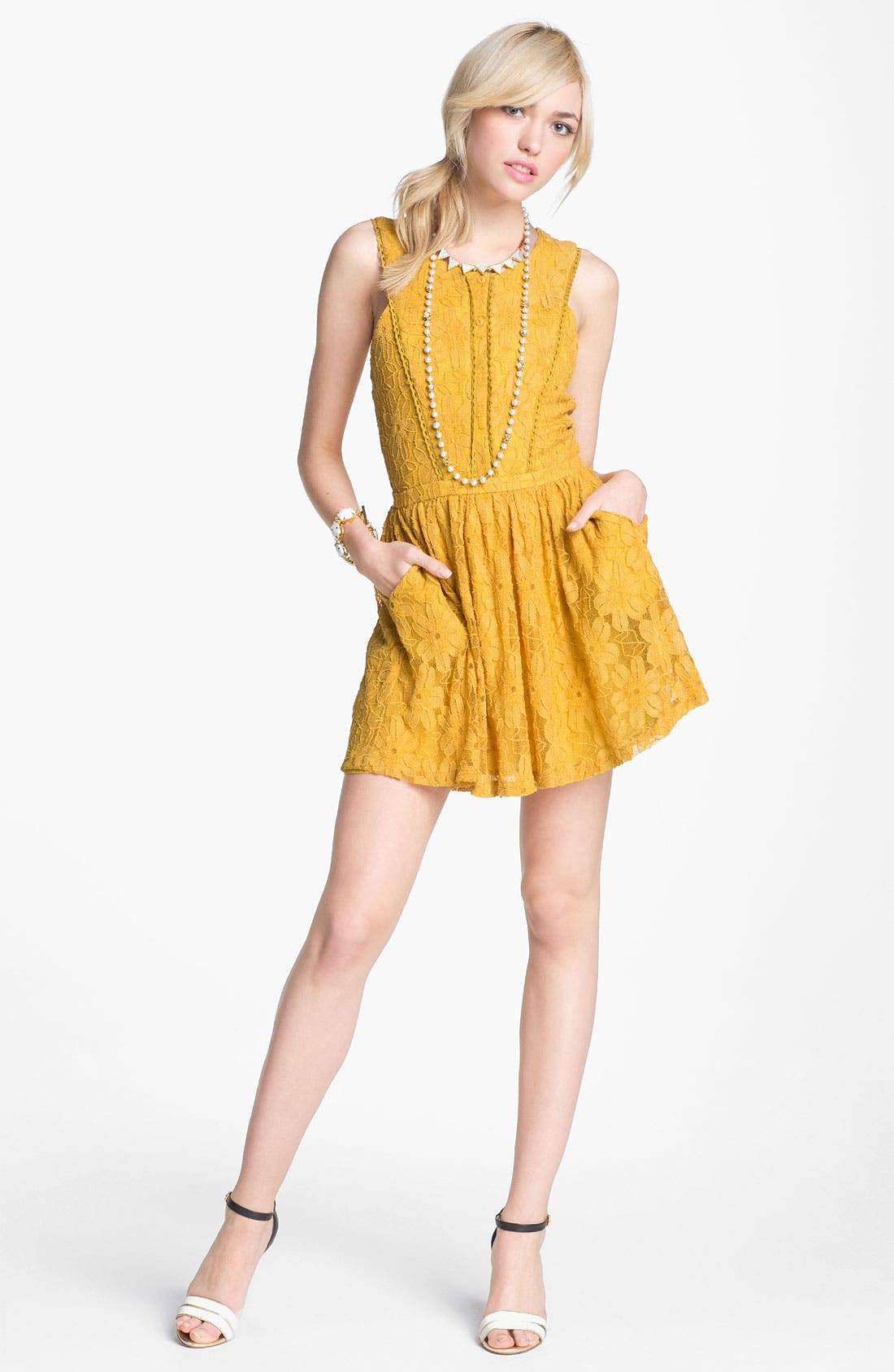 Alternate Image 2  - Lucca Couture Button Front Dress