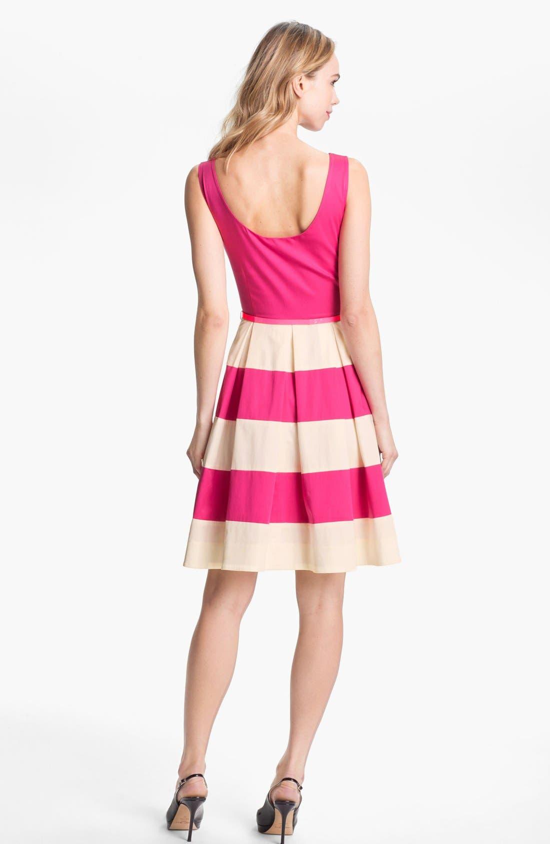 Alternate Image 2  - kate spade new york 'celina' stretch cotton fit & flare dress