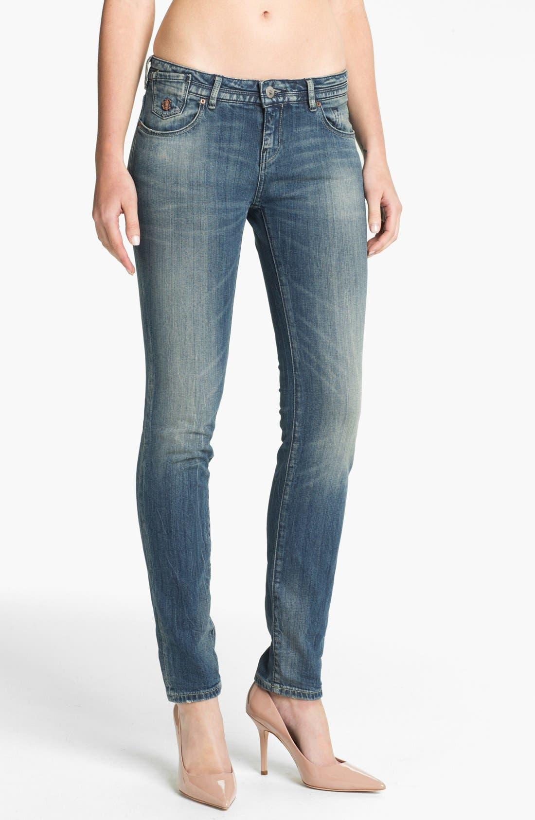 Main Image - Maison Scotch 'La Parisienne' Bleach Washed Skinny Jeans (Bleutiful)