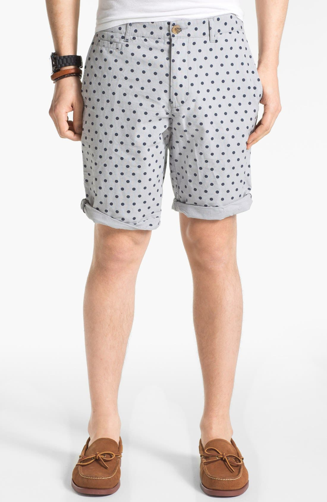 Alternate Image 1 Selected - 1901 Mixed Print Oxford Shorts