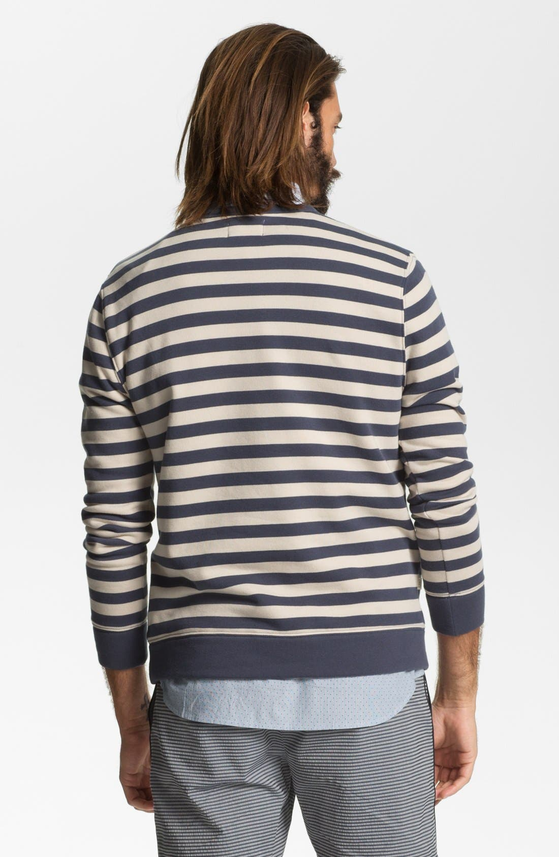 Alternate Image 2  - Obey 'Dano' Stripe Crewneck Sweatshirt