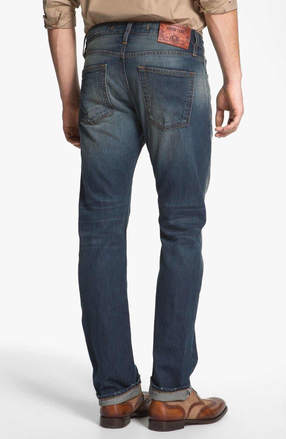 Alternate Image 2  - Asbury Park '1874 Monte Carlo' Straight Leg Selvedge Jeans (Harrison)