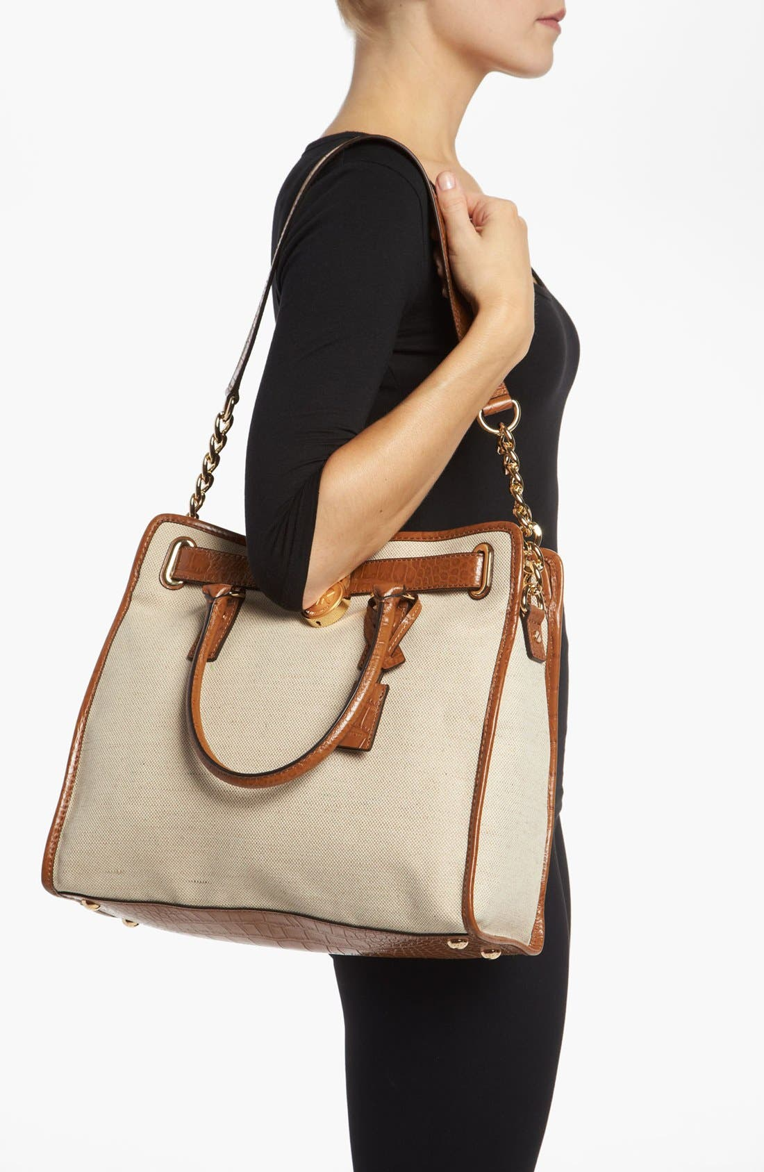 Alternate Image 2  - MICHAEL Michael Kors 'Hamilton - Large' Canvas Tote