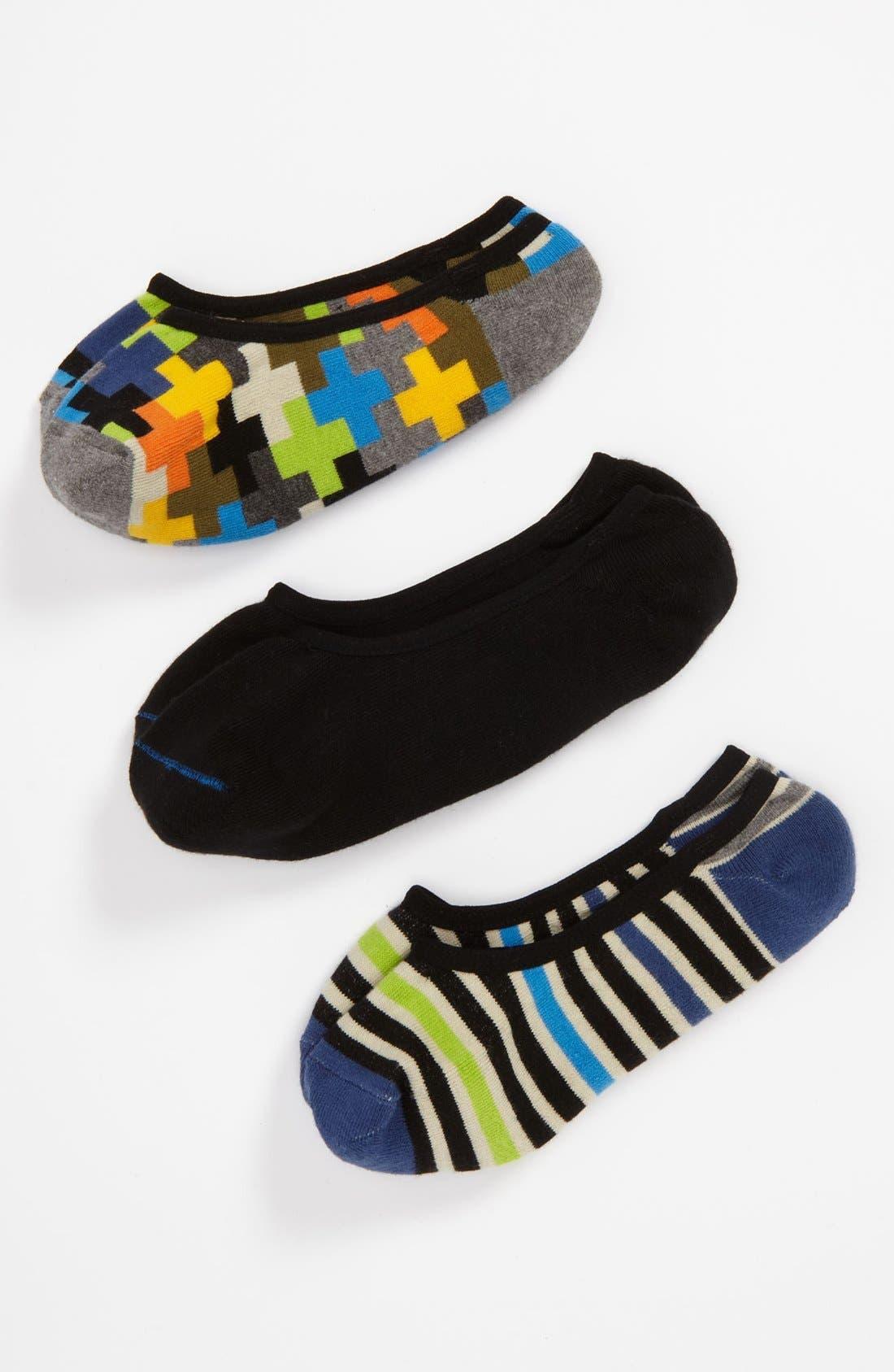 Alternate Image 1 Selected - Nordstrom 'Geo' Sock Liner (3-Pack) (Little Boys & Big Boys)