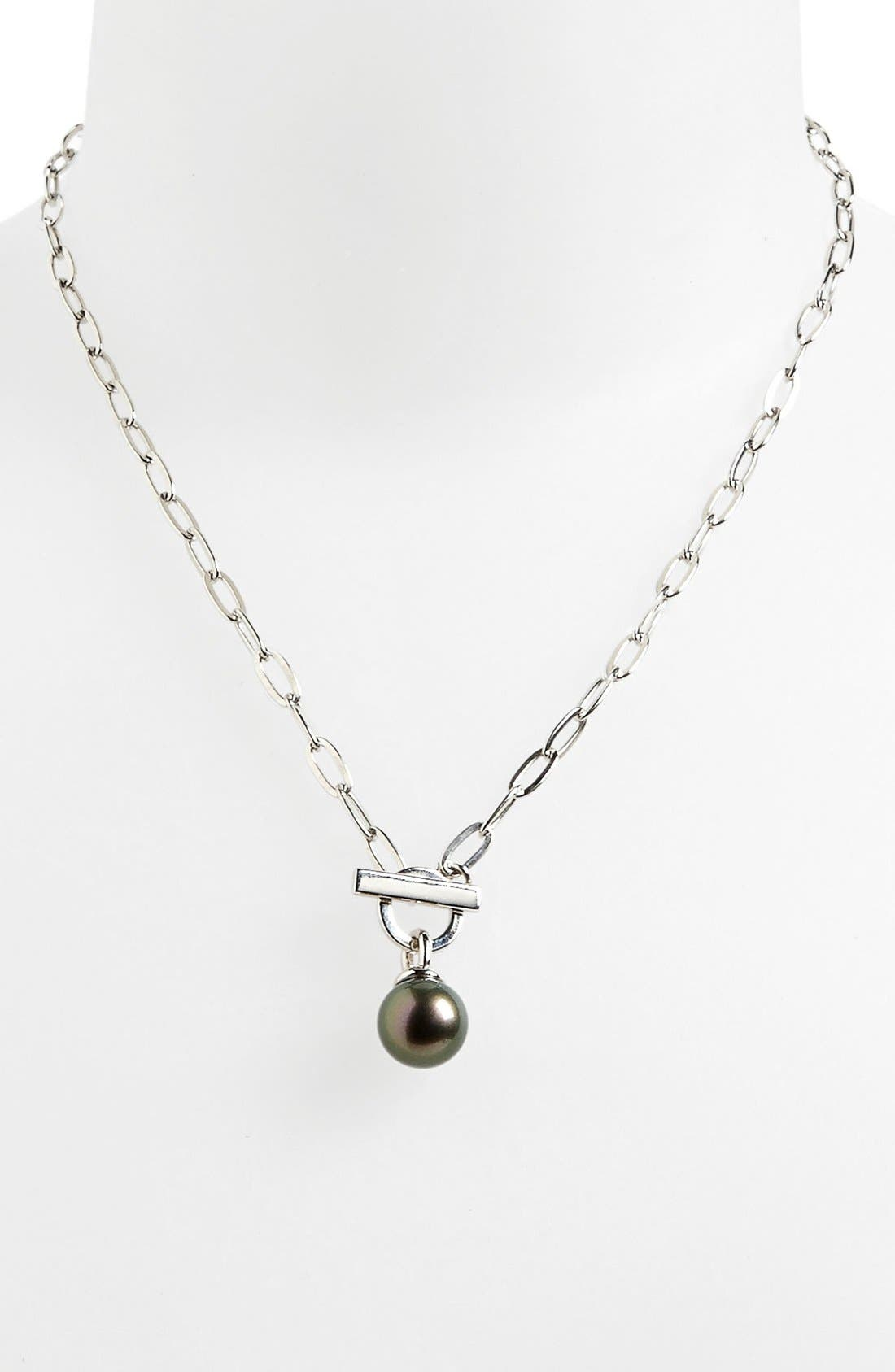 Main Image - Majorica 12mm Pearl Pendant Toggle Necklace
