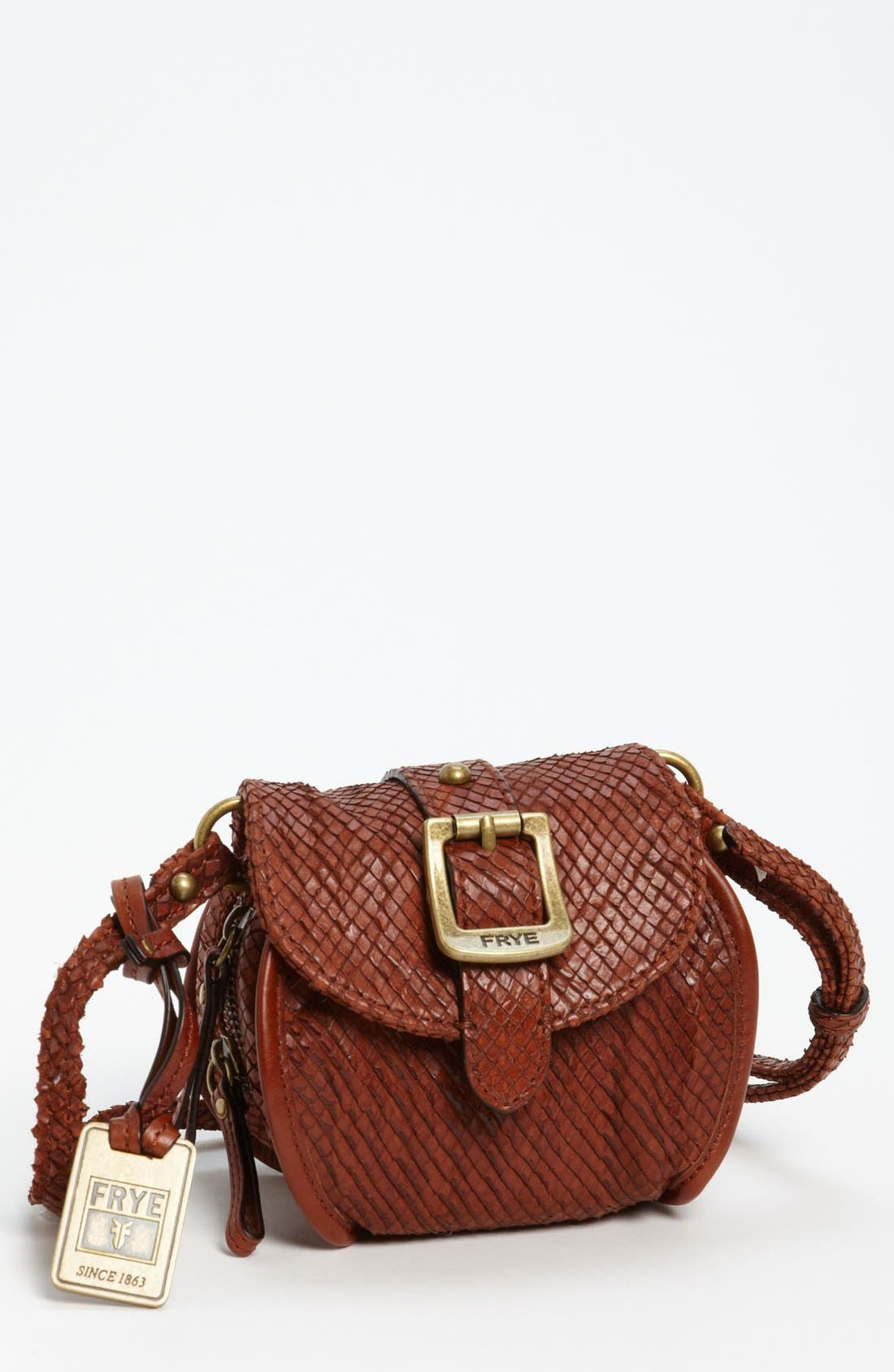 Main Image - Frye Snake Texture Crossbody Bag