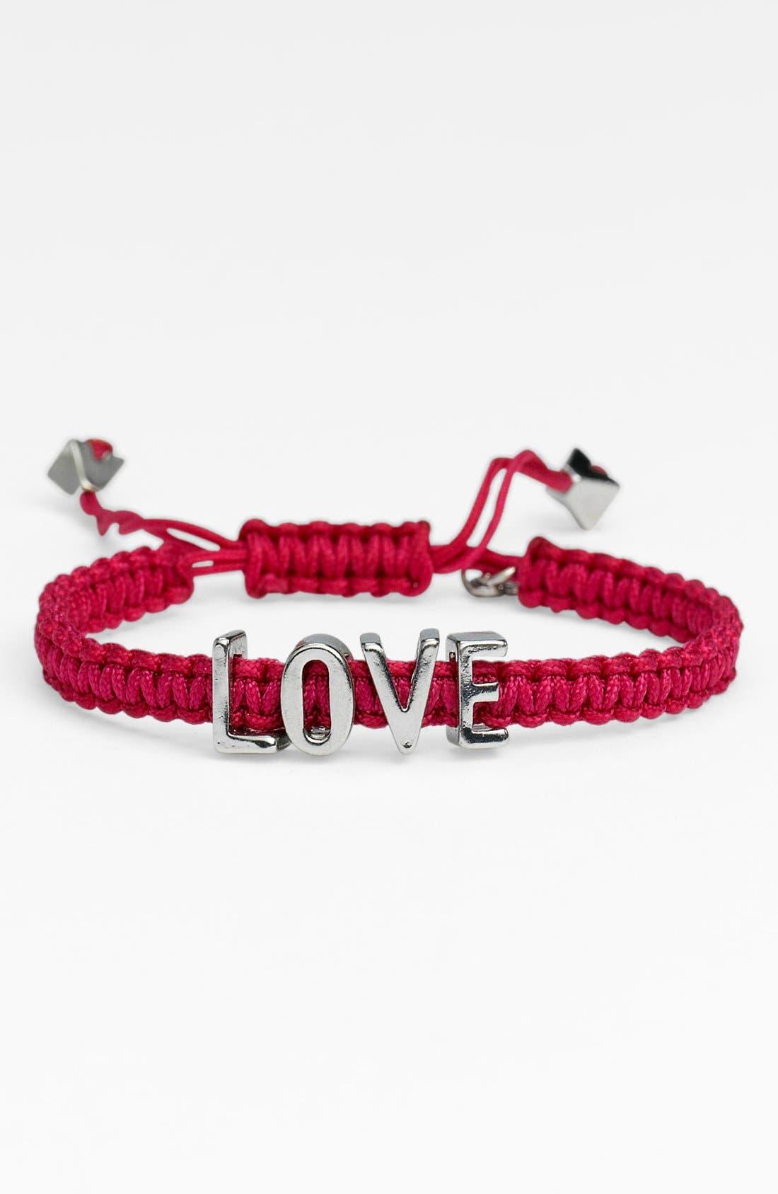Alternate Image 1 Selected - BCBGeneration 'Affirmation - Friendship' Macramé Bracelet