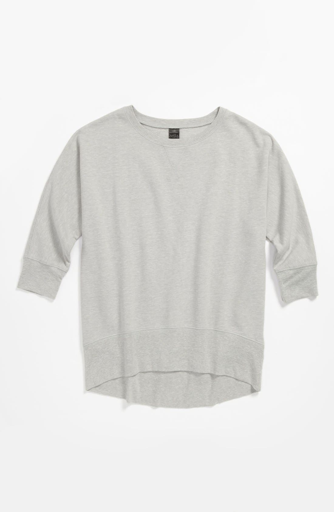 Alternate Image 1 Selected - Zella Girl 'Hip Hop' Sweatshirt (Little Girls & Big Girls)