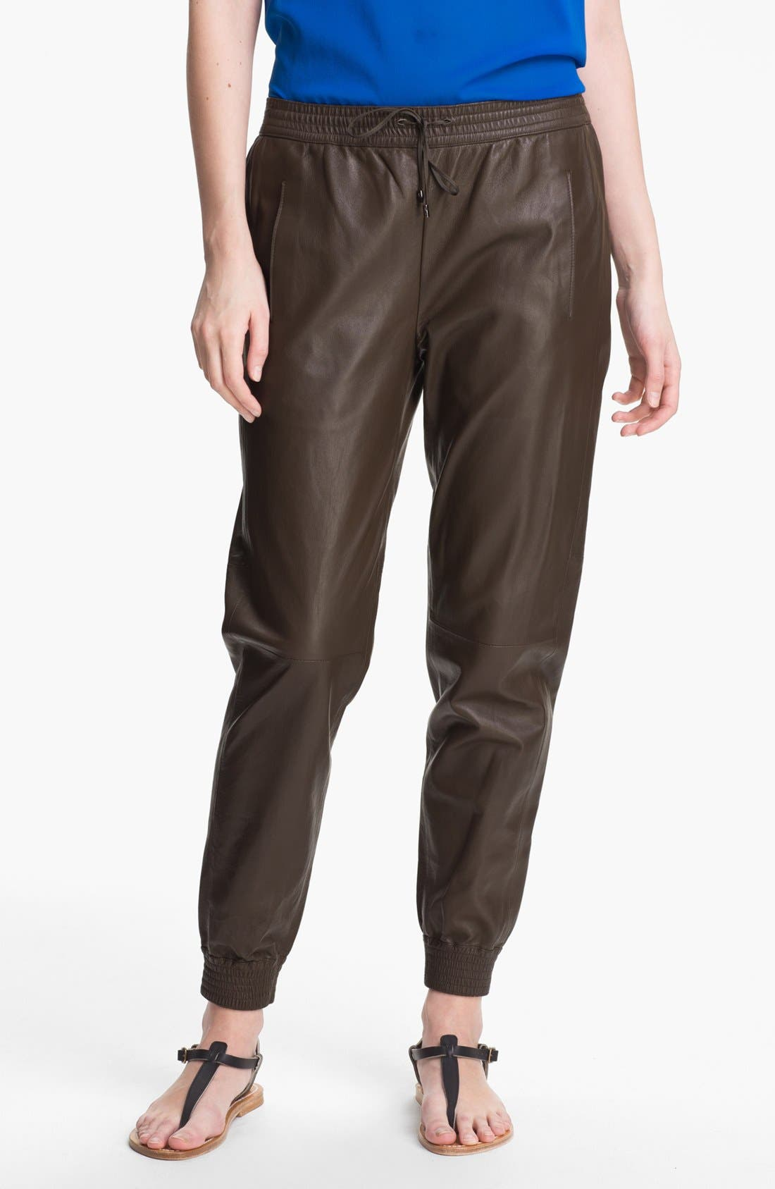 Alternate Image 1 Selected - Vince Leather Track Pants