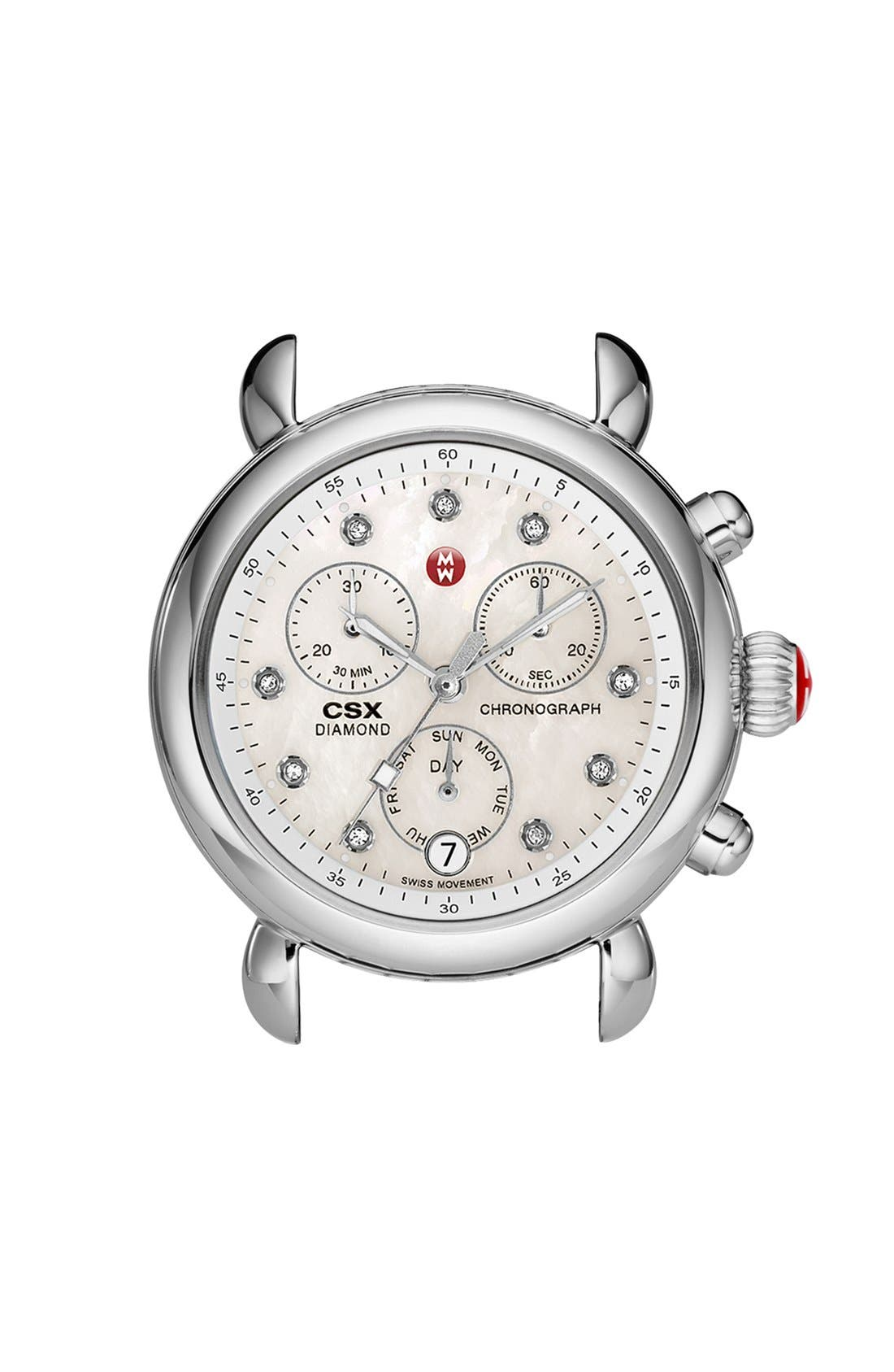 Alternate Image 1 Selected - MICHELE 'CSX-36' Diamond Dial Watch Case, 36mm