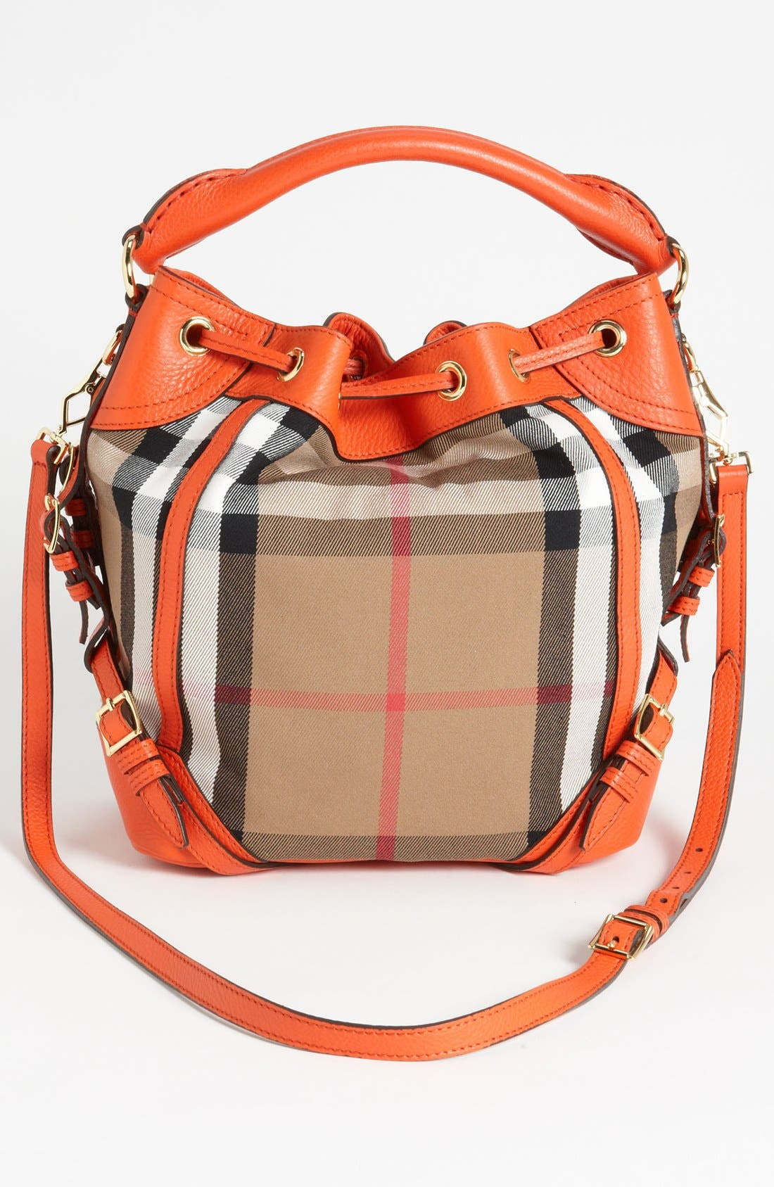 Alternate Image 4  - Burberry 'House Check - Medium' Drawstring Crossbody Bag
