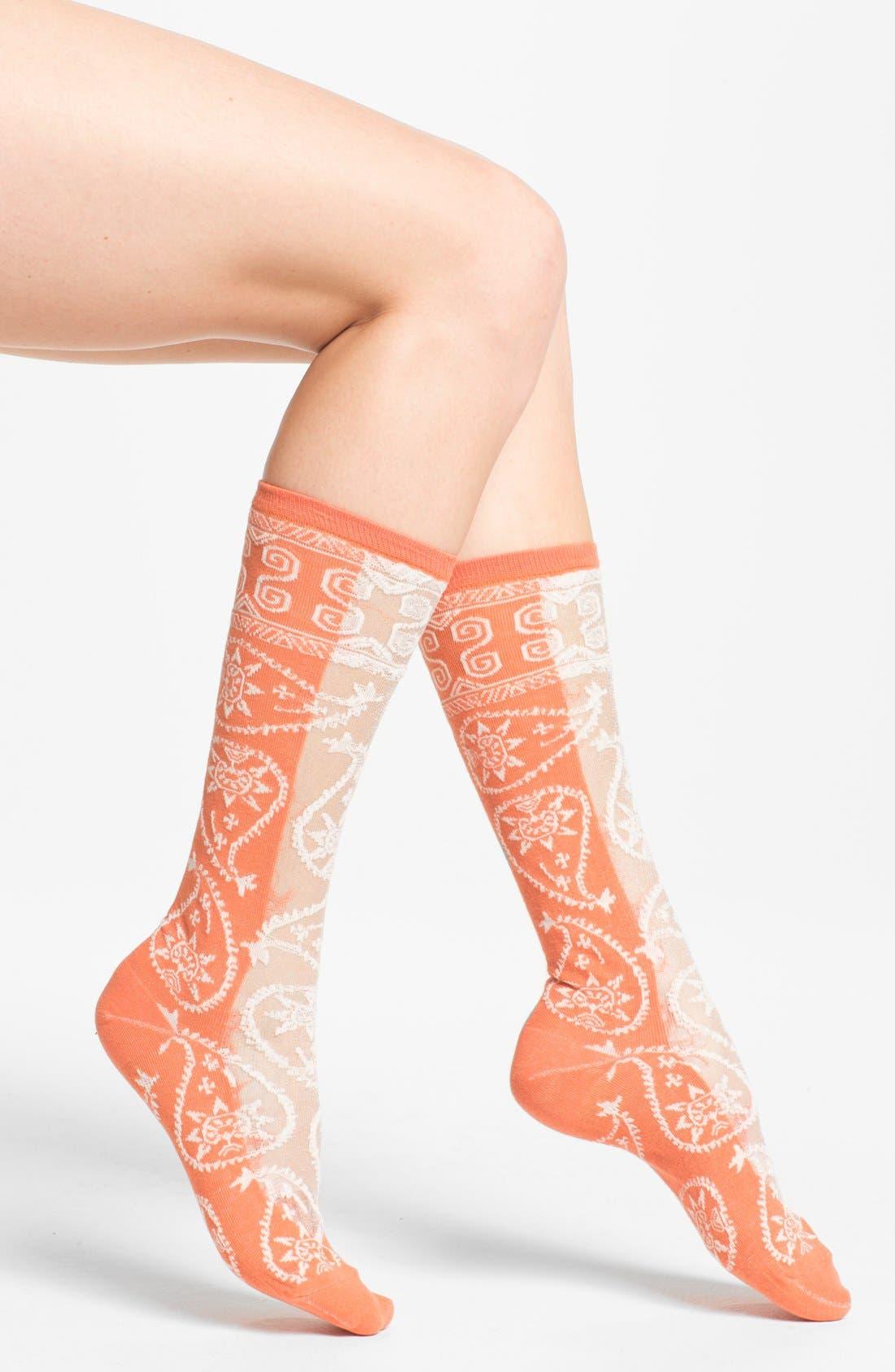 Main Image - Free People 'Hayes' Paisley Socks