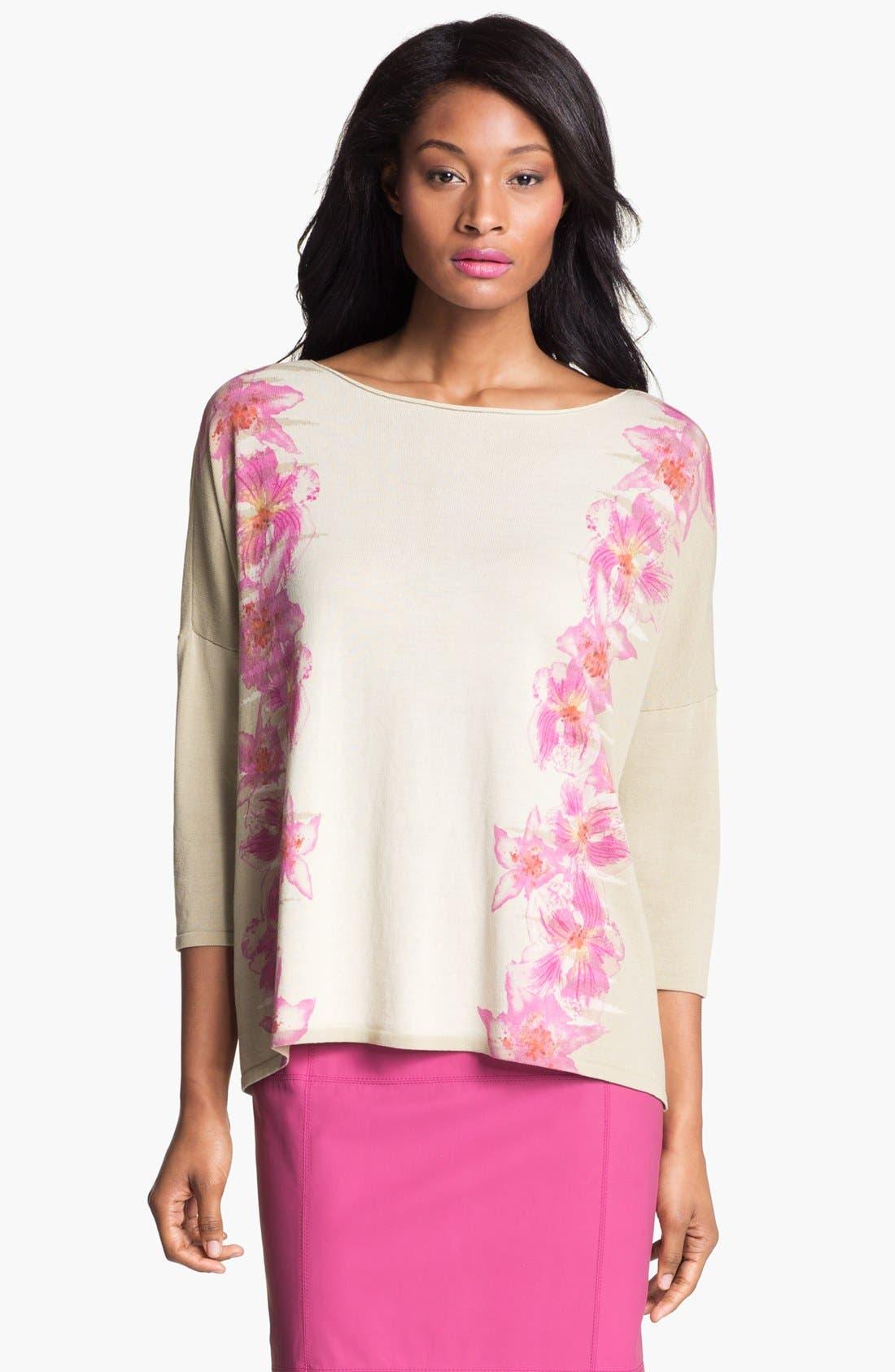 Main Image - Lafayette 148 New York 'Opulent' Intarsia Sweater