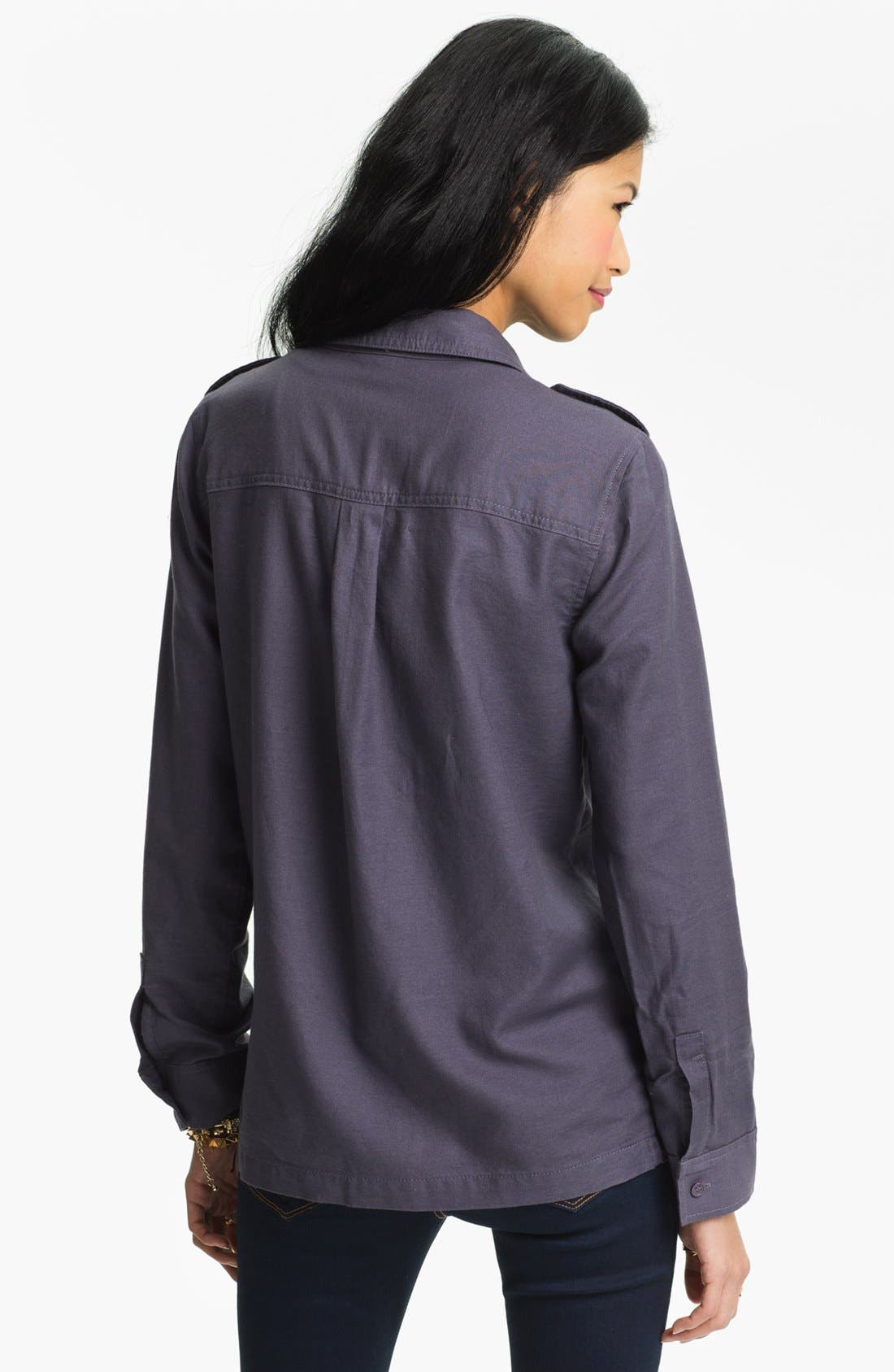 Alternate Image 2  - Rubbish Army Shirt Jacket (Juniors)