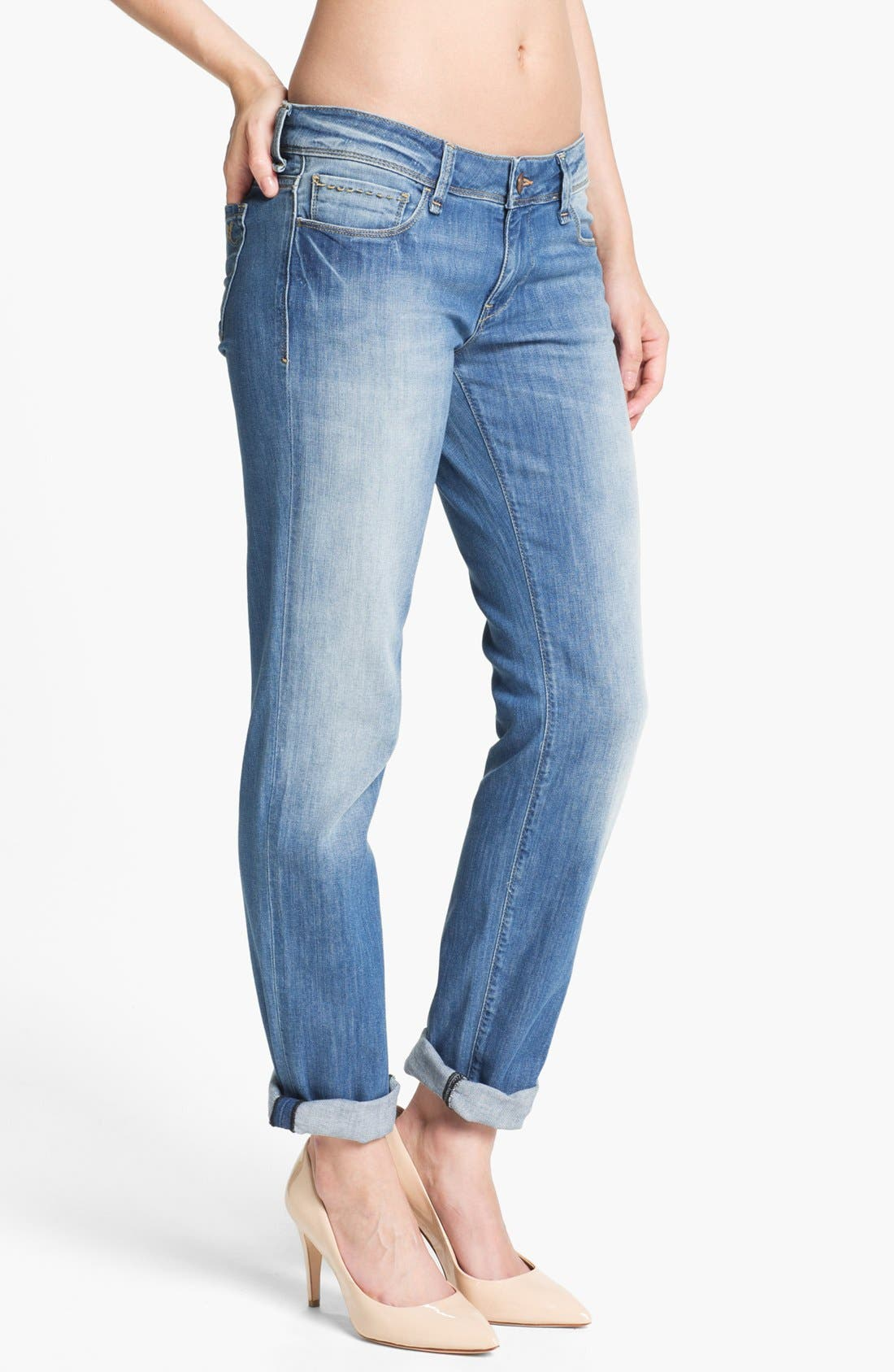 Alternate Image 1 Selected - Mavi Jeans 'Emma' Slim Boyfriend Jeans (Summer Nolita)