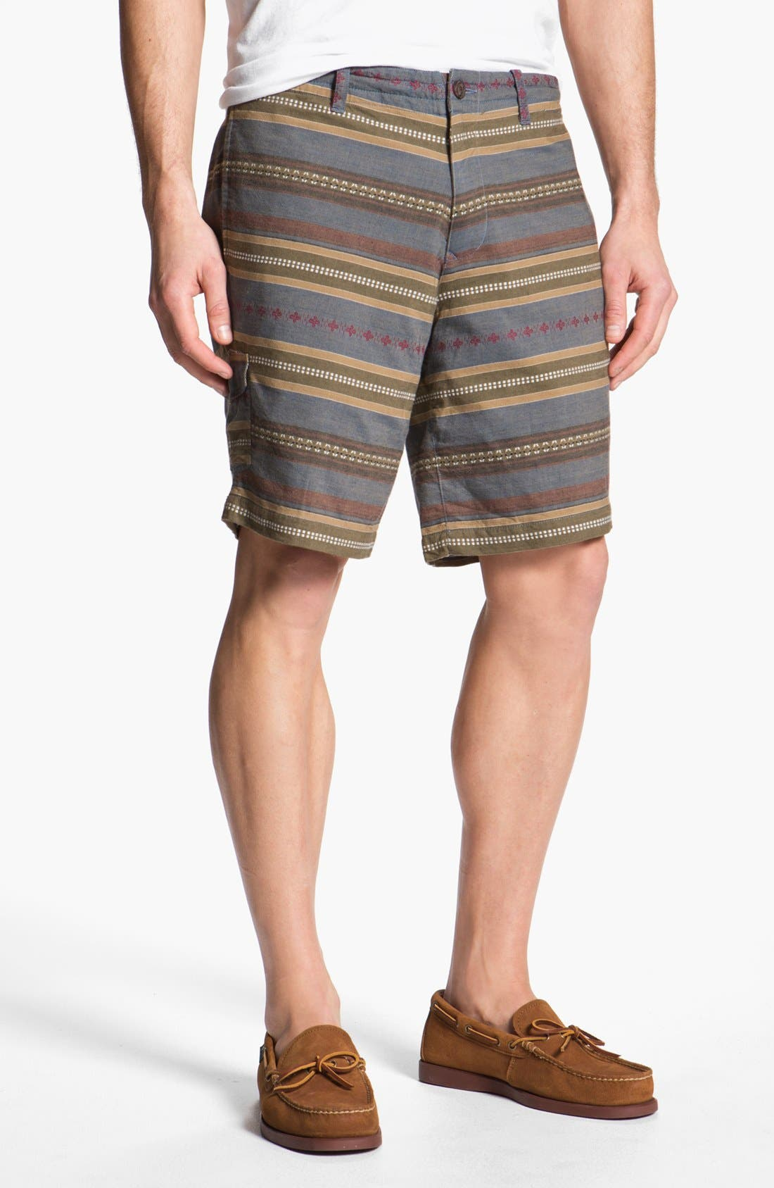 Alternate Image 1 Selected - Burkman Bros Stripe Cargo Shorts
