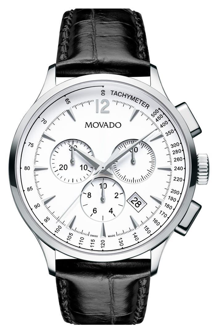 men s movado watches nordstrom movado circa round chronograph watch 42mm