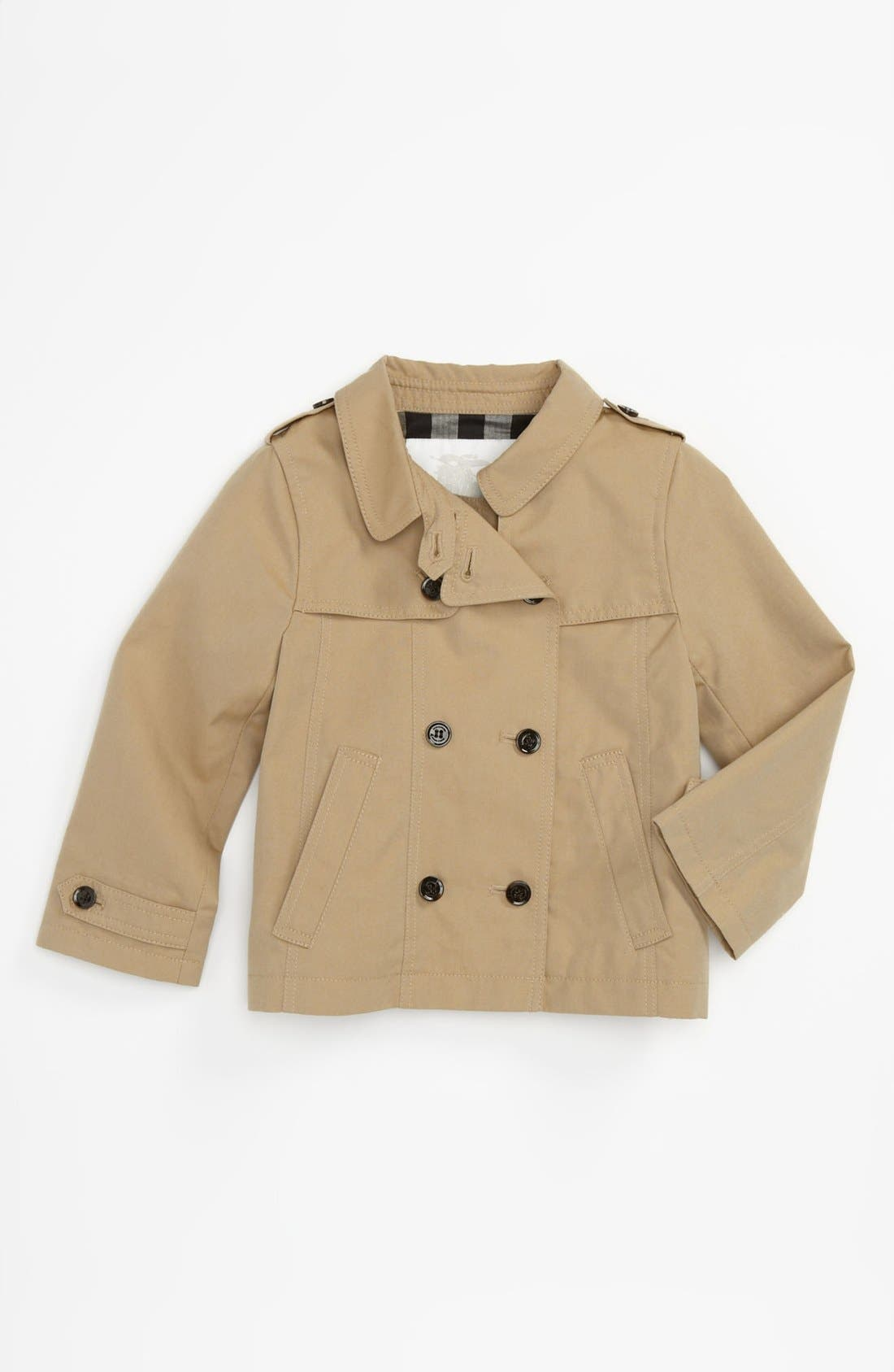 Alternate Image 1 Selected - Burberry Double Breasted Trench Coat (Toddler)