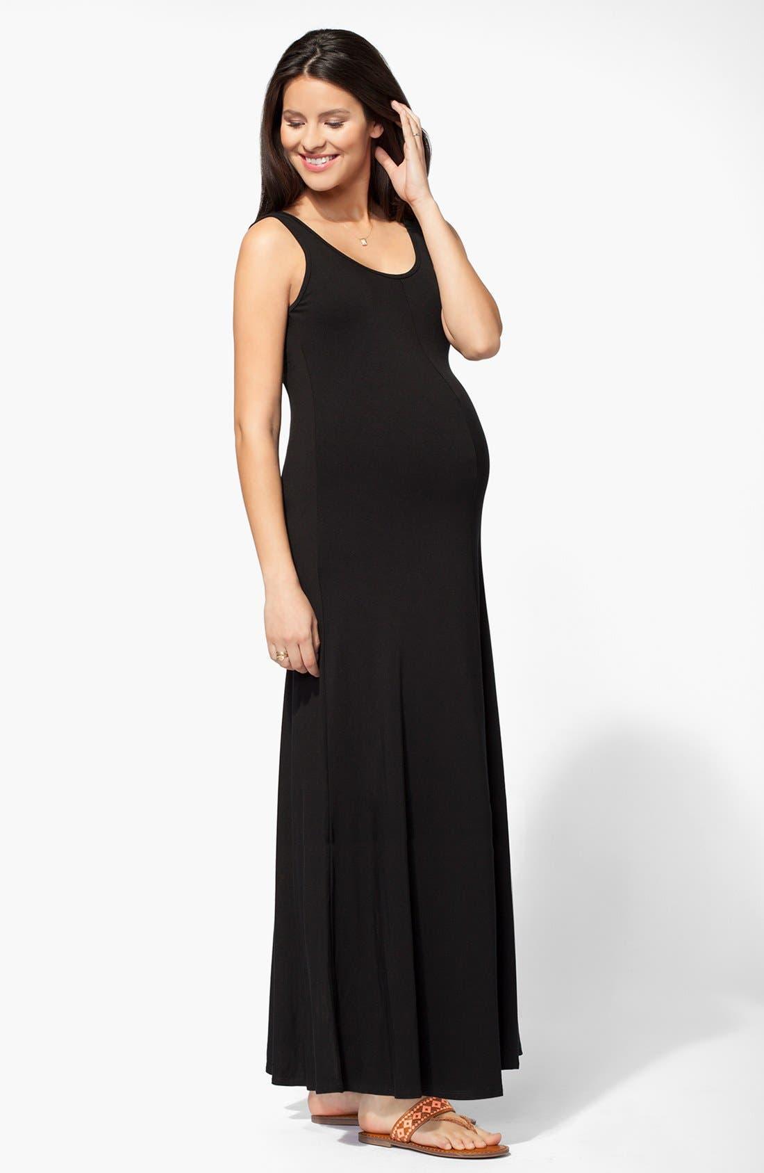 Alternate Image 2  - Ingrid & Isabel® Tank Maternity Maxi Dress
