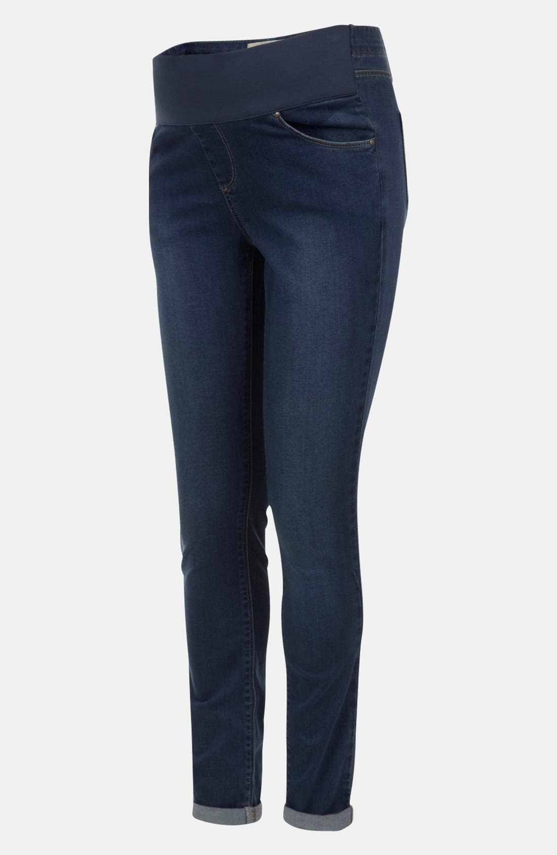 Main Image - Topshop 'Leigh' Maternity Skinny Jeans (Short)