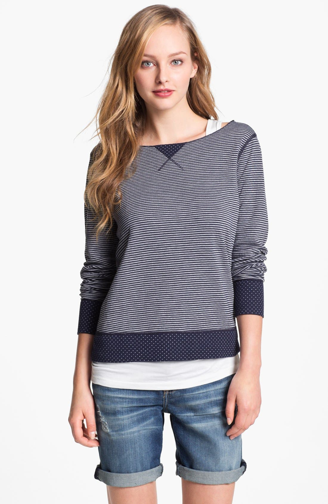 Alternate Image 1 Selected - Three Dots Reversible Print Sweatshirt