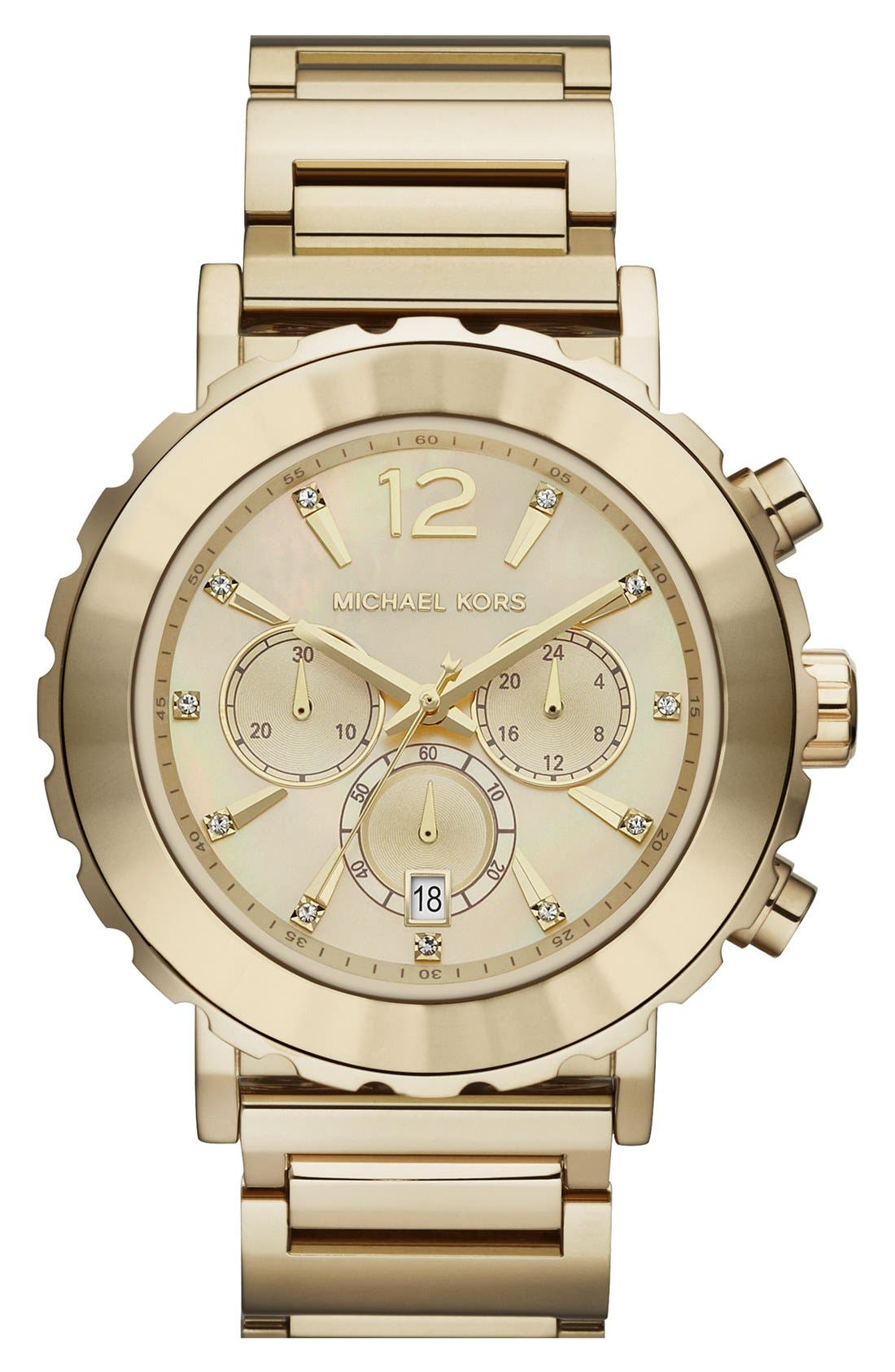 Alternate Image 1 Selected - Michael Kors 'Lille' Chronograph Bracelet Watch, 45mm