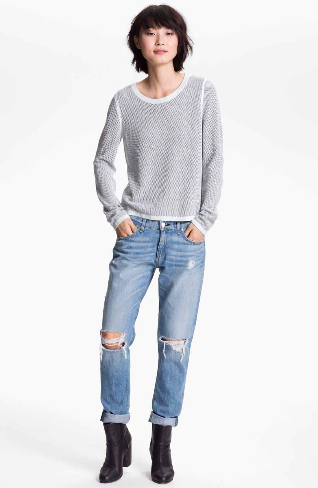 Alternate Image 1 Selected - rag & bone Sweater & rag & bone/JEAN Boyfriend Jeans