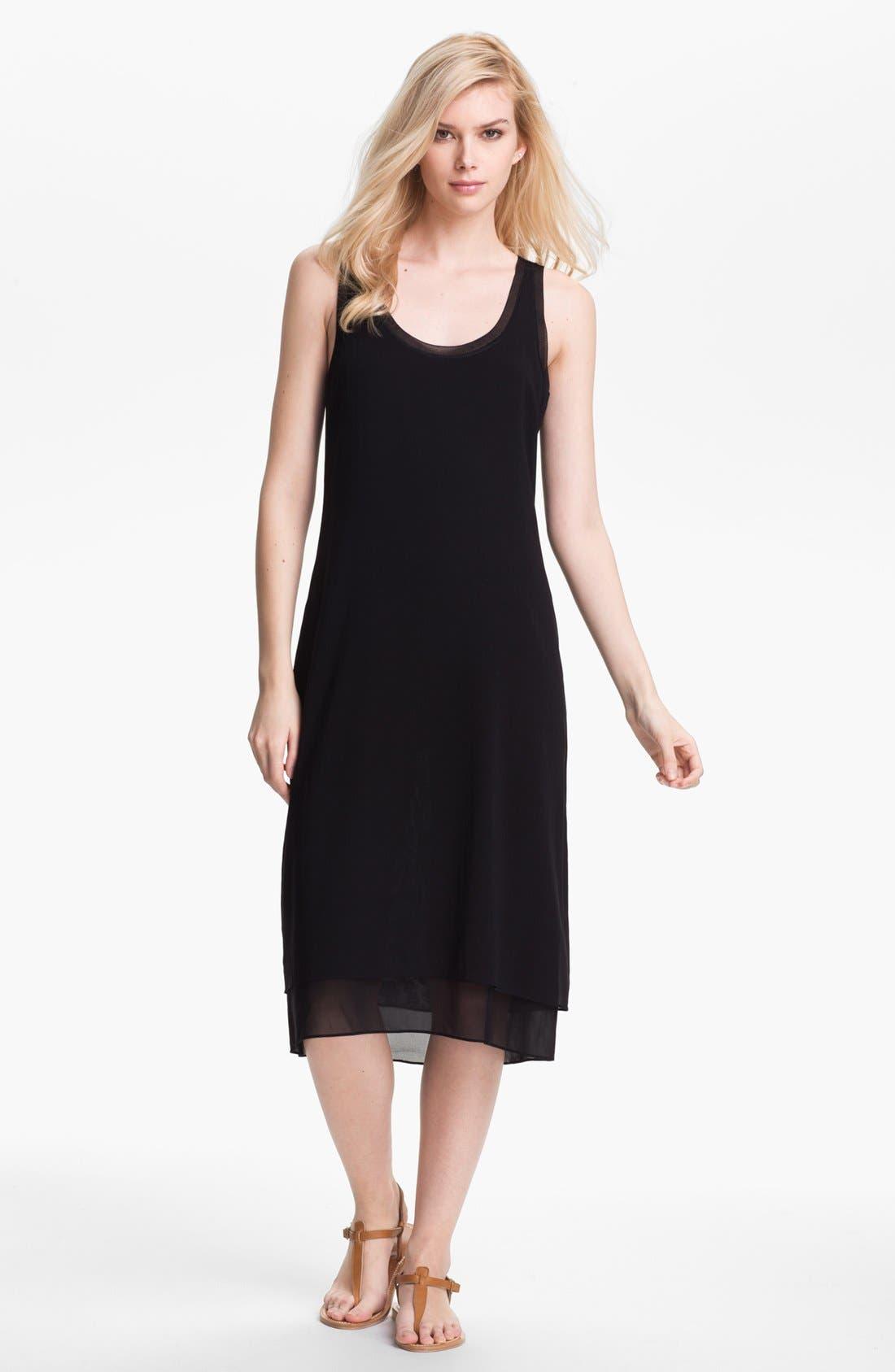 Alternate Image 1 Selected - Vince Layered Silk Midi Dress