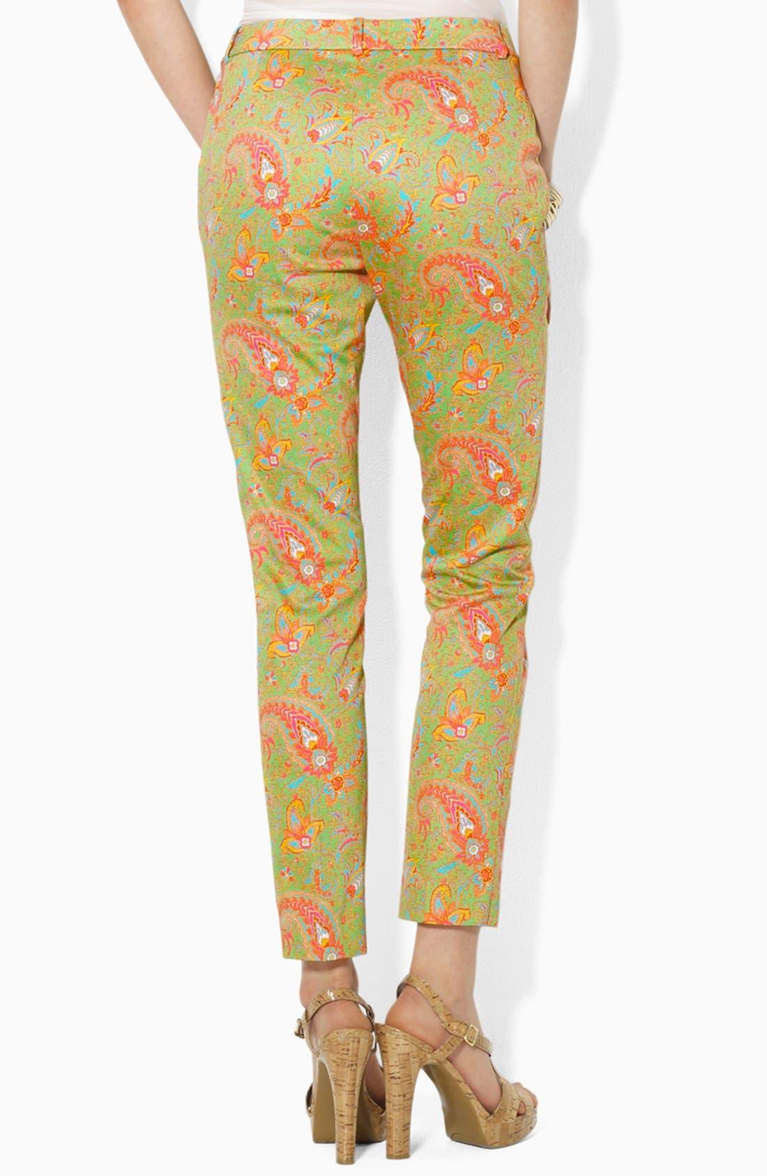 Alternate Image 2  - Lauren Ralph Lauren Paisley Slim Ankle Pants