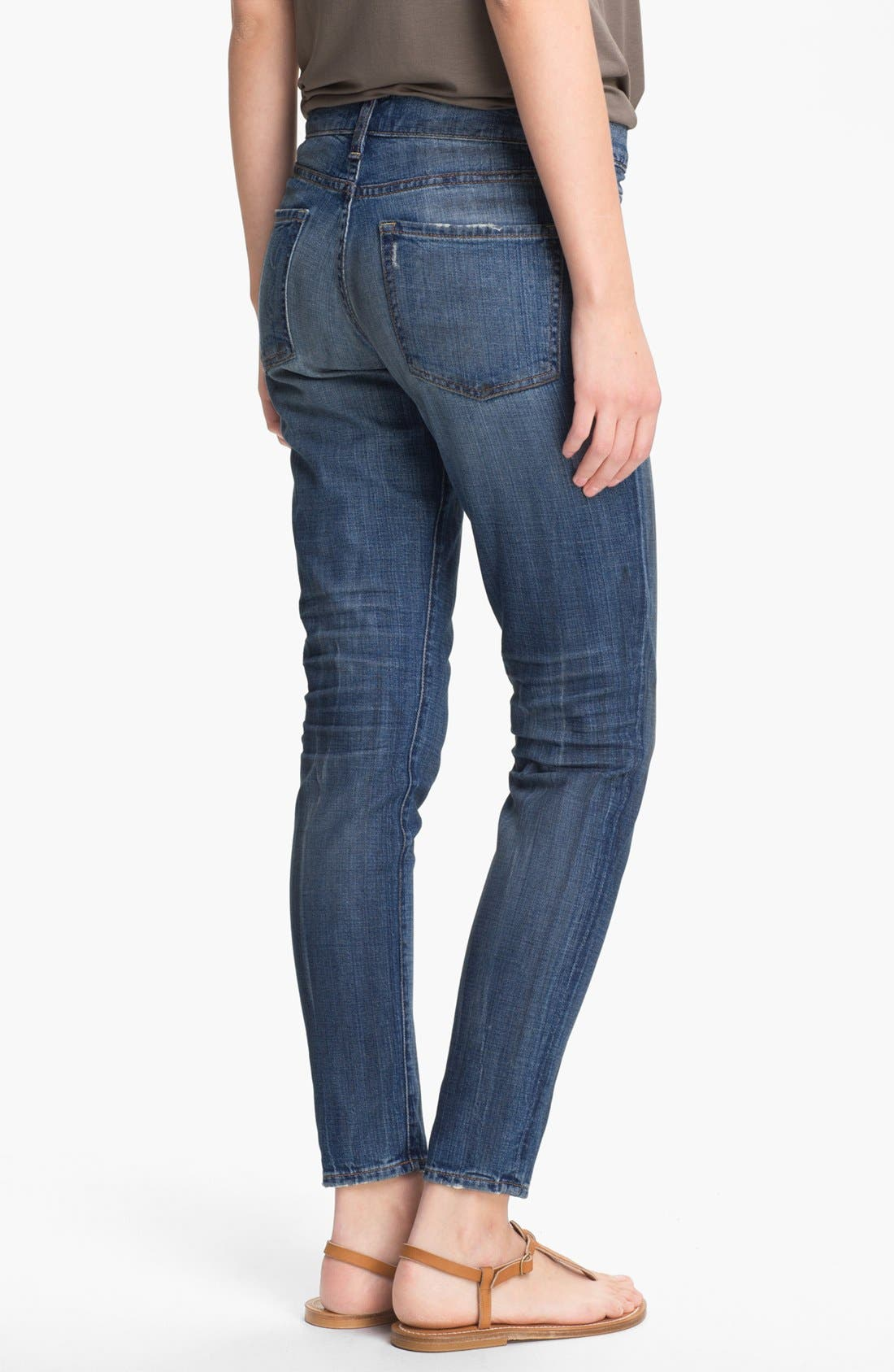 Alternate Image 2  - Vince Relaxed Stretch Ankle Jeans (Light Worn In)