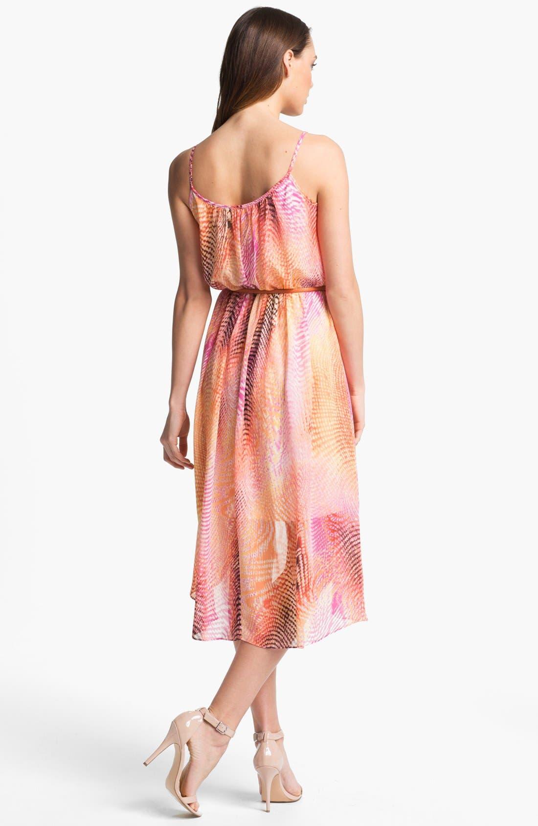 Alternate Image 2  - Maggy London Print High/Low Chiffon Dress